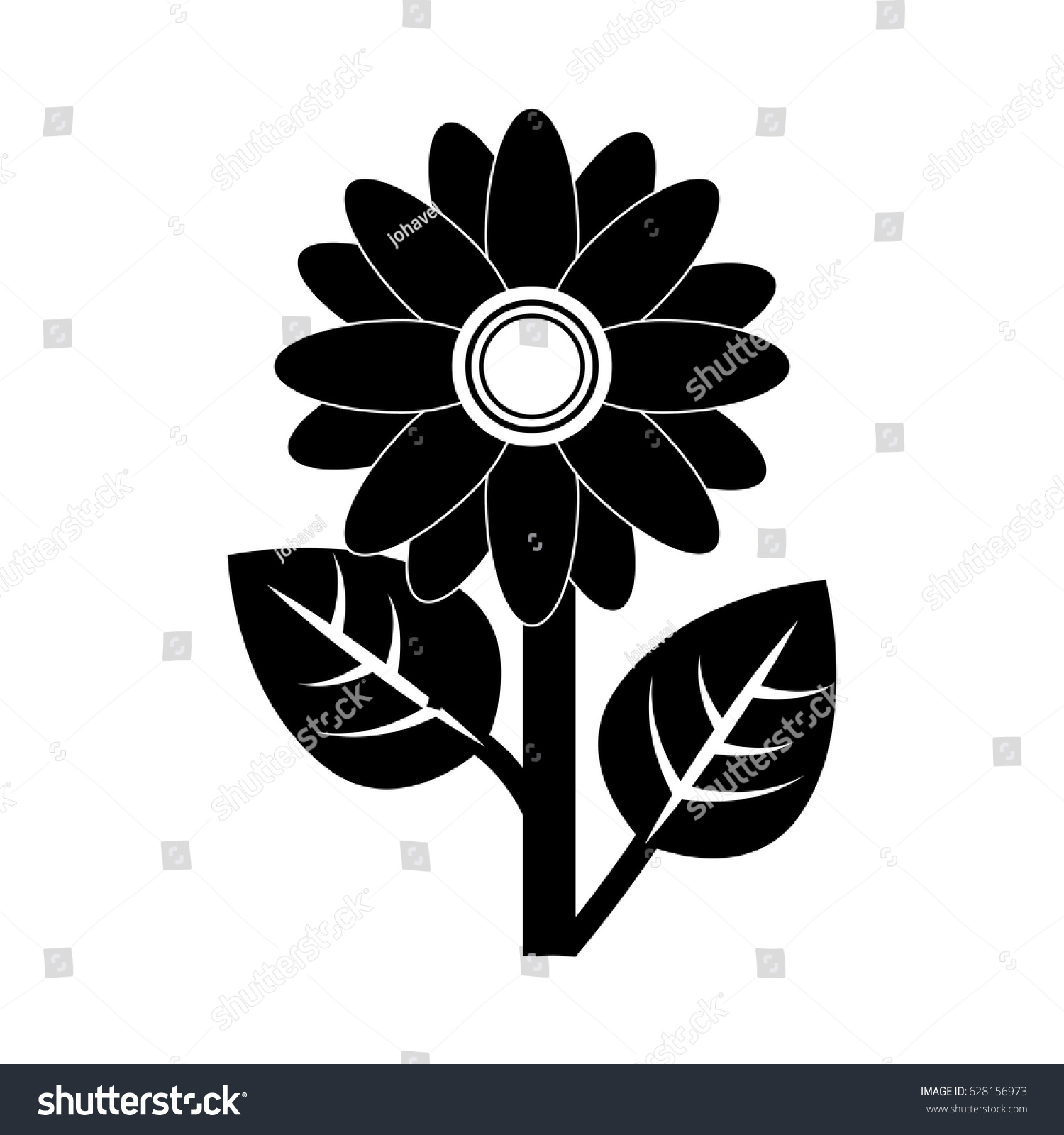 Beautiful Flowers Design Stock Vector Royalty Free 628156973