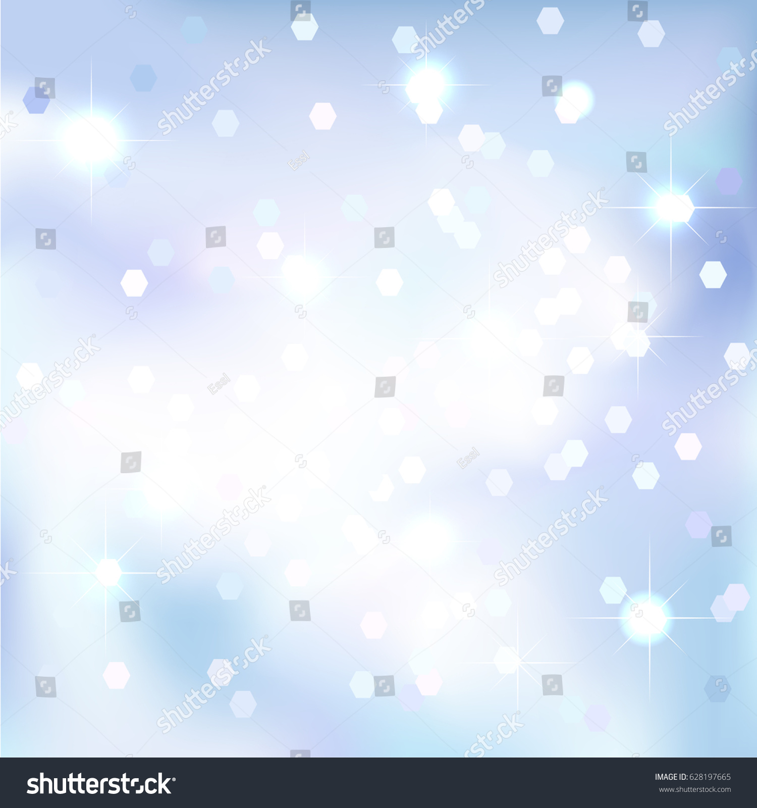 blue sky background magical new year christmas event style