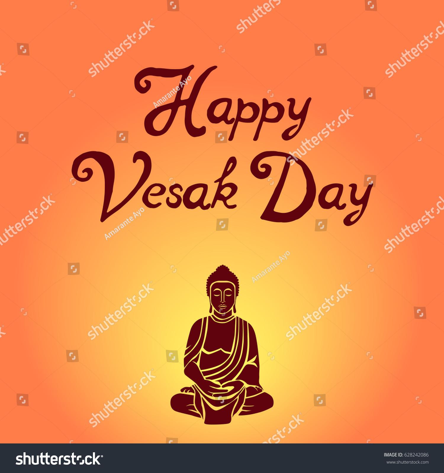 Religion Vesak Day Celebration Colorful Unique Stock Vector Royalty