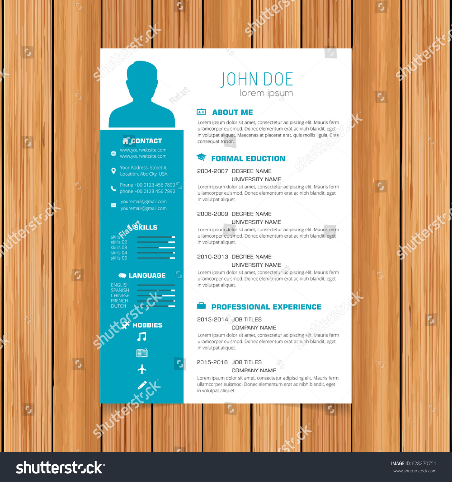 resume template color