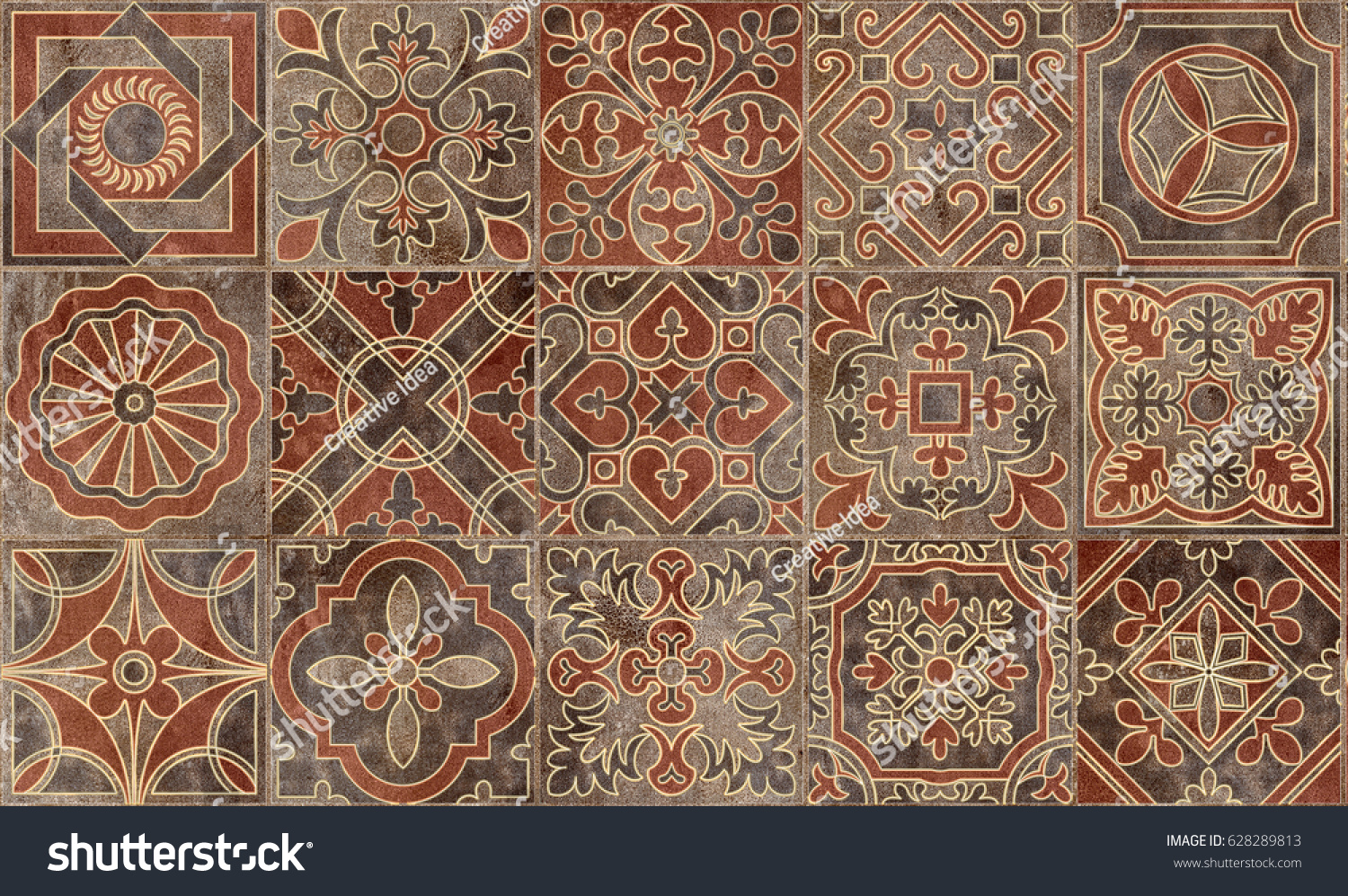 Home decorative wall tiles design pattern stock illustration home decorative wall tiles design pattern background dailygadgetfo Images