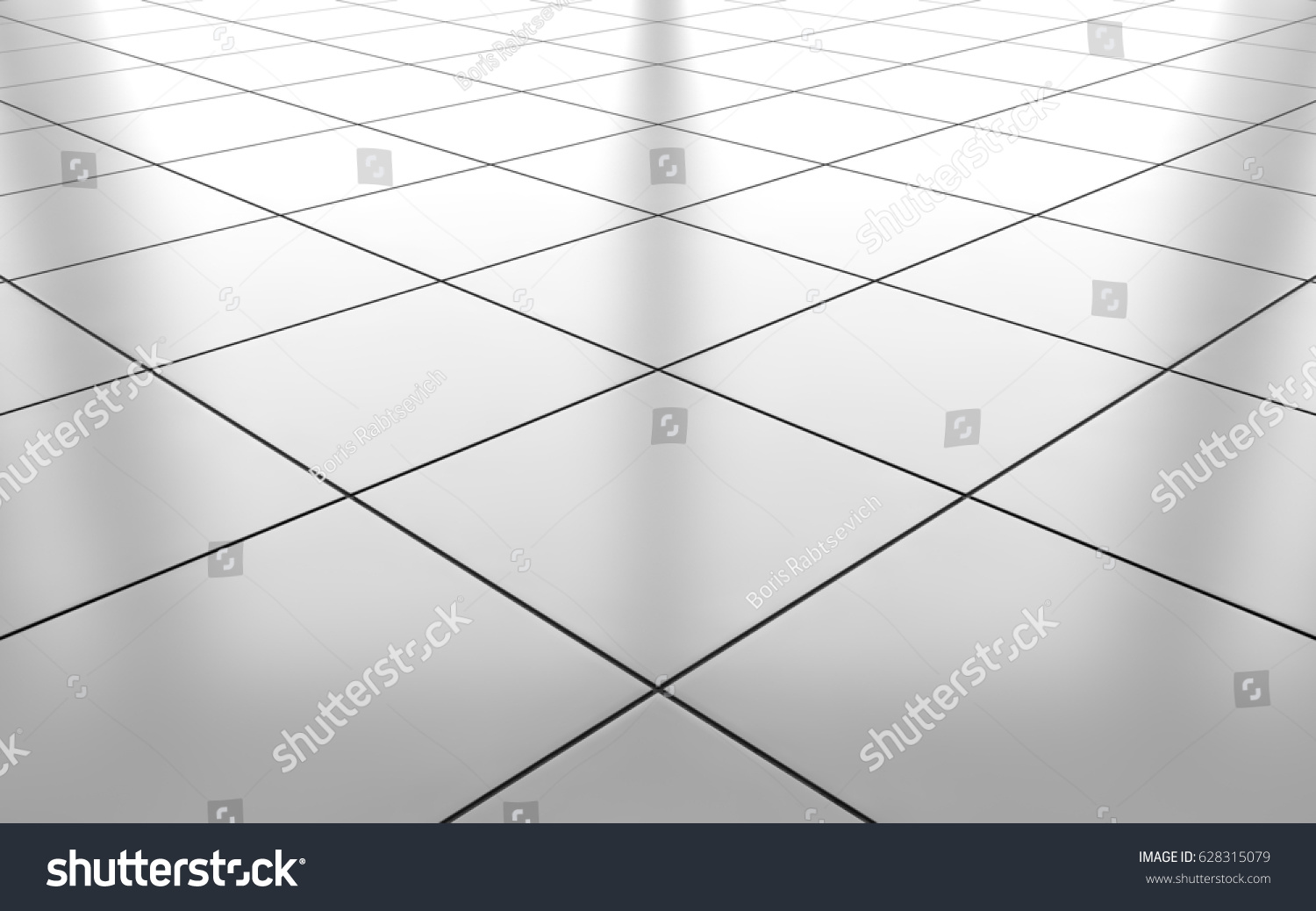 White glossy ceramic tile floor pattern stock illustration white glossy ceramic tile floor pattern background 3d rendering doublecrazyfo Image collections