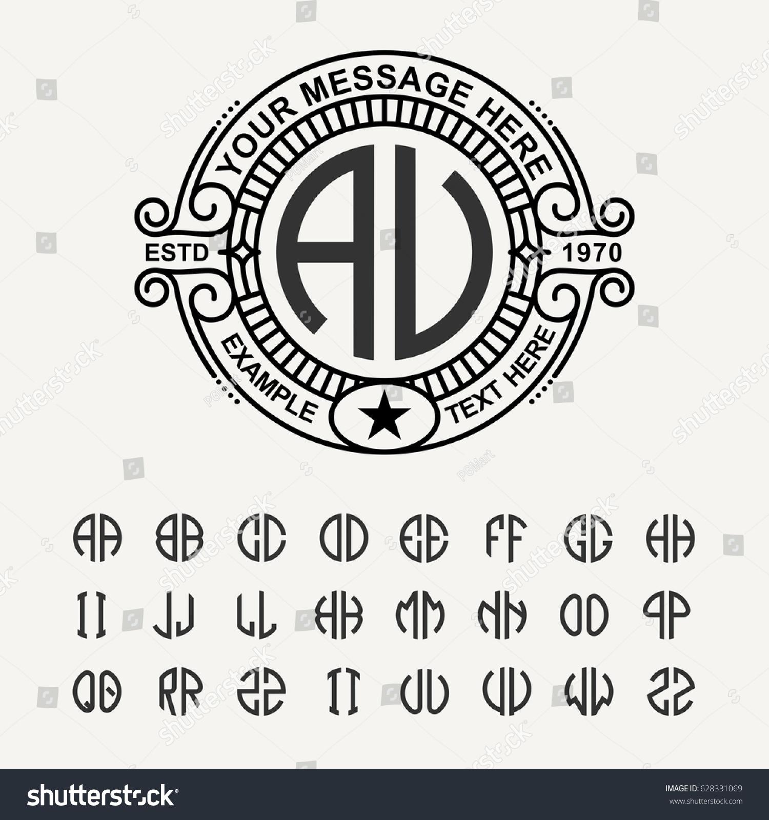 Modern Emblem Badge Template Luxury Elegant Stock Vector