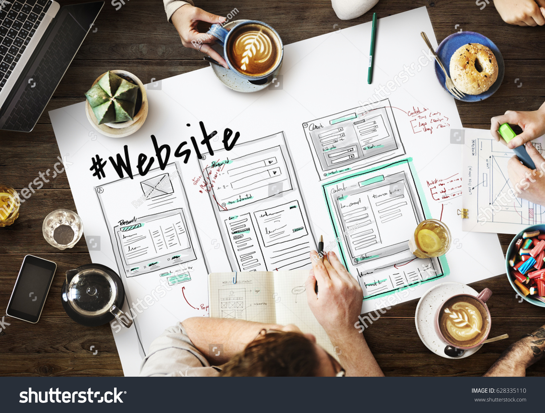 Website development layout sketch drawing #628335110
