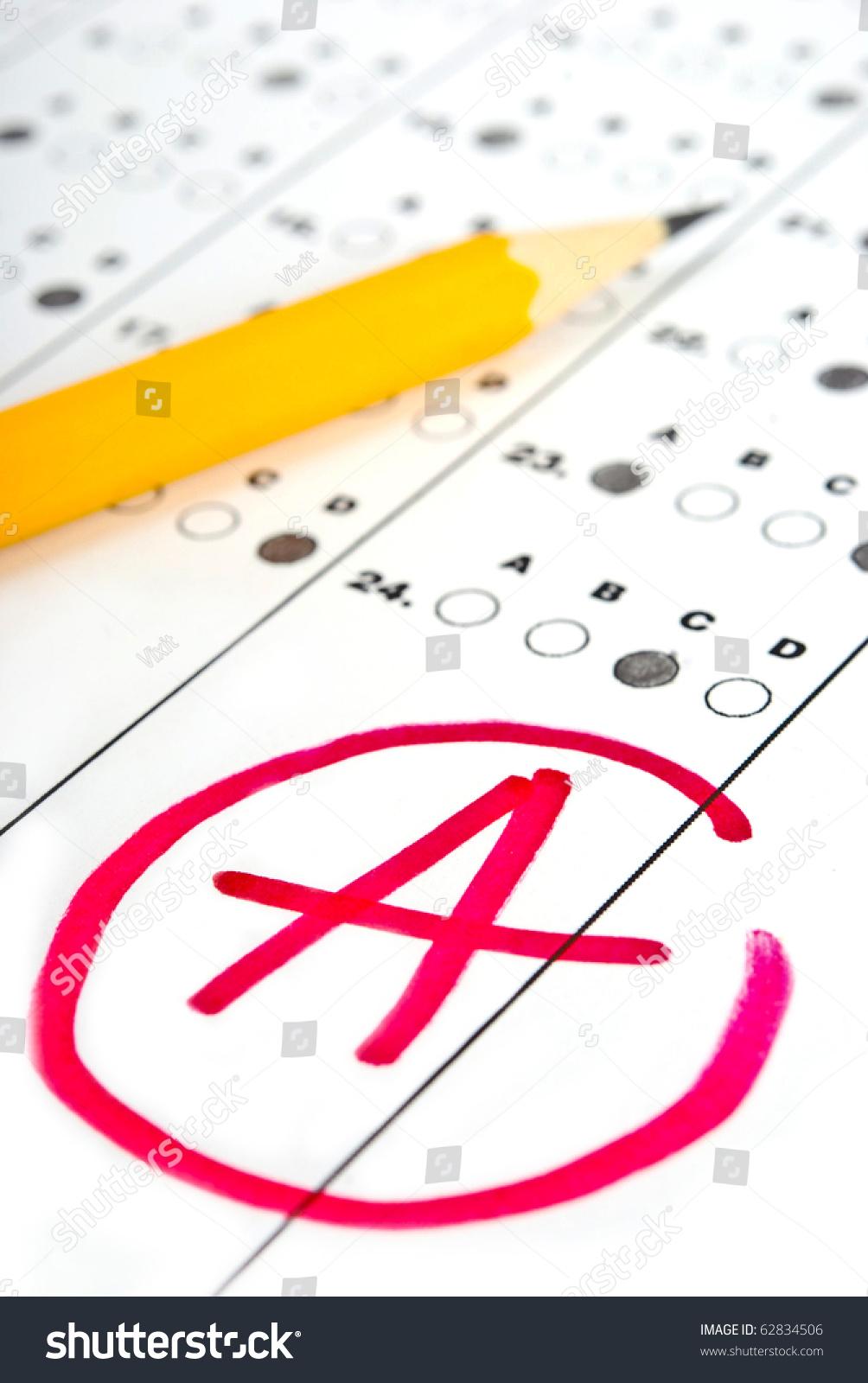 Test Paper Result Stock Photo 62834506 - Shutterstock