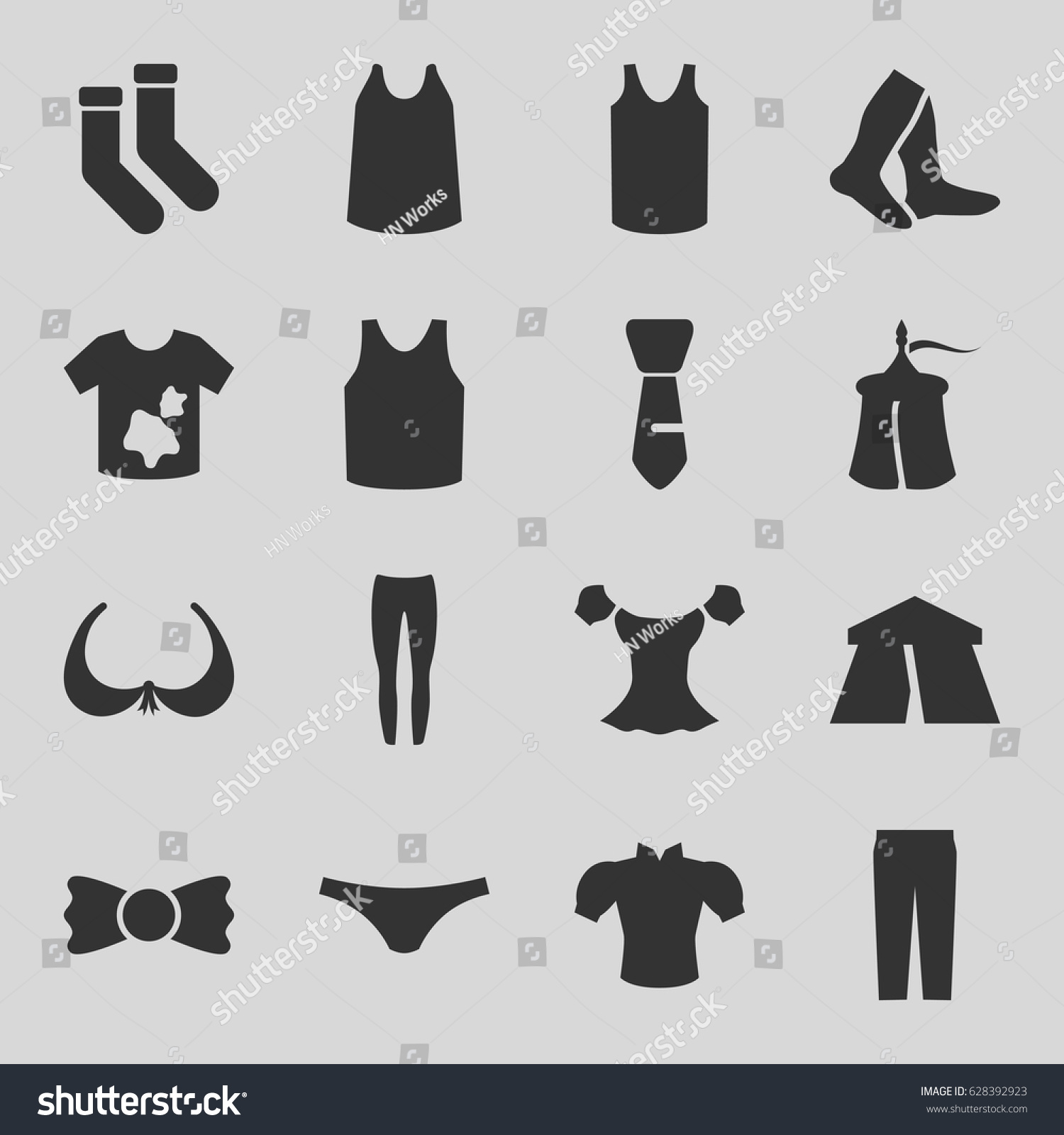 set of 16 textile filled icons such as tent bra dirty laundry socks  sc 1 st  Shutterstock & Set 16 Textile Filled Icons Such Stock Vector 628392923 - Shutterstock