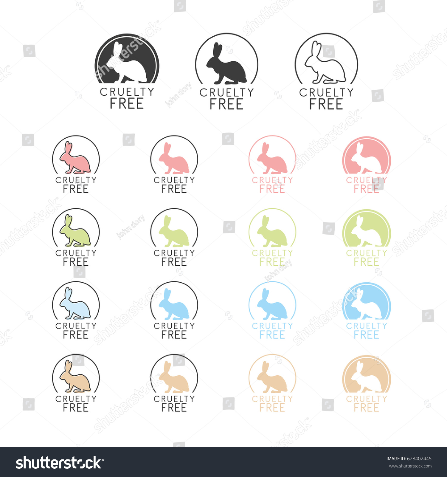 Animal cruelty free symbol can be stock vector 628402445 shutterstock animal cruelty free symbol can be used as sticker logo stamp icon biocorpaavc Gallery