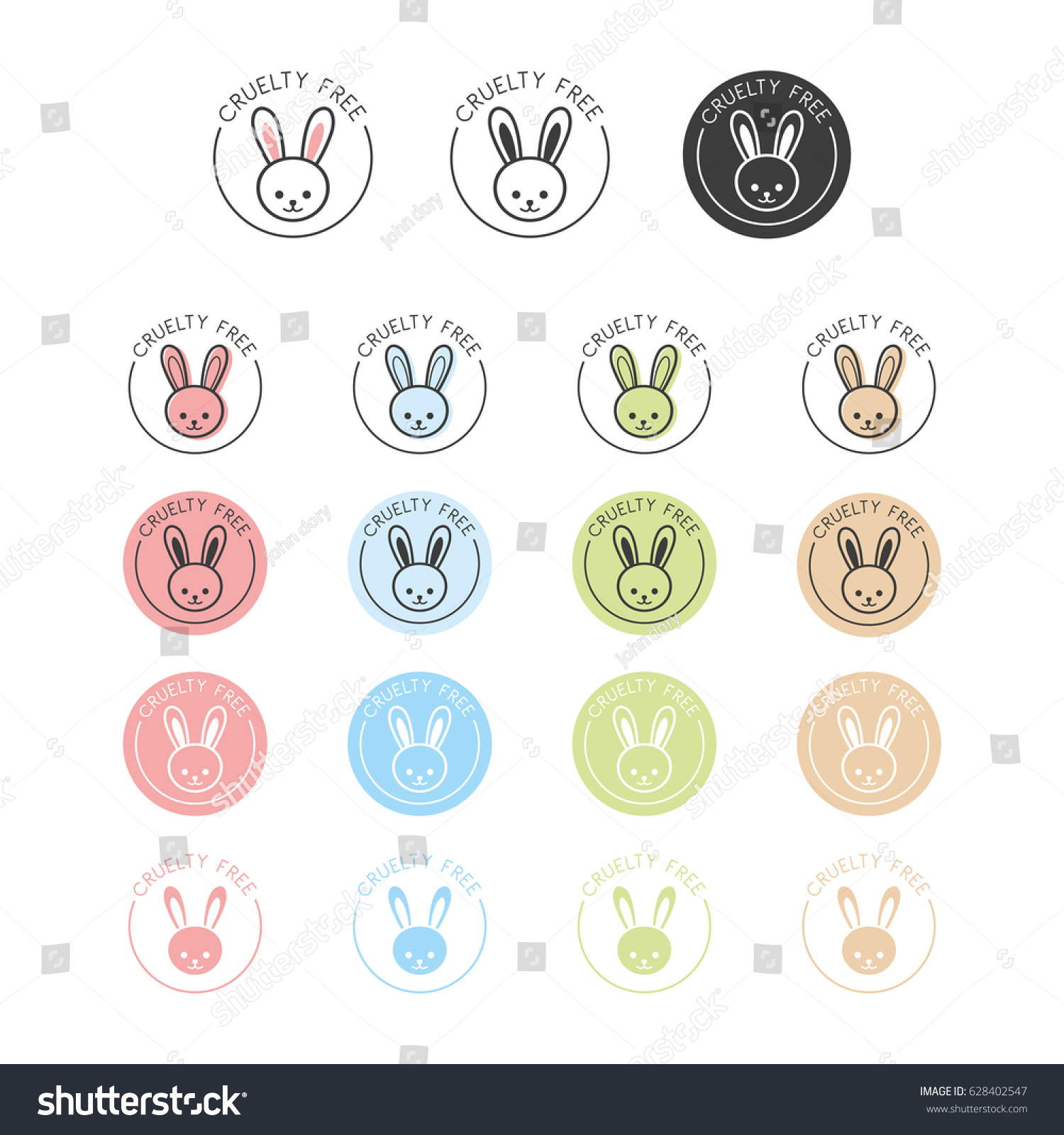 Animal cruelty free symbol can be stock vector 628402547 shutterstock animal cruelty free symbol can be used as sticker logo stamp icon biocorpaavc Gallery