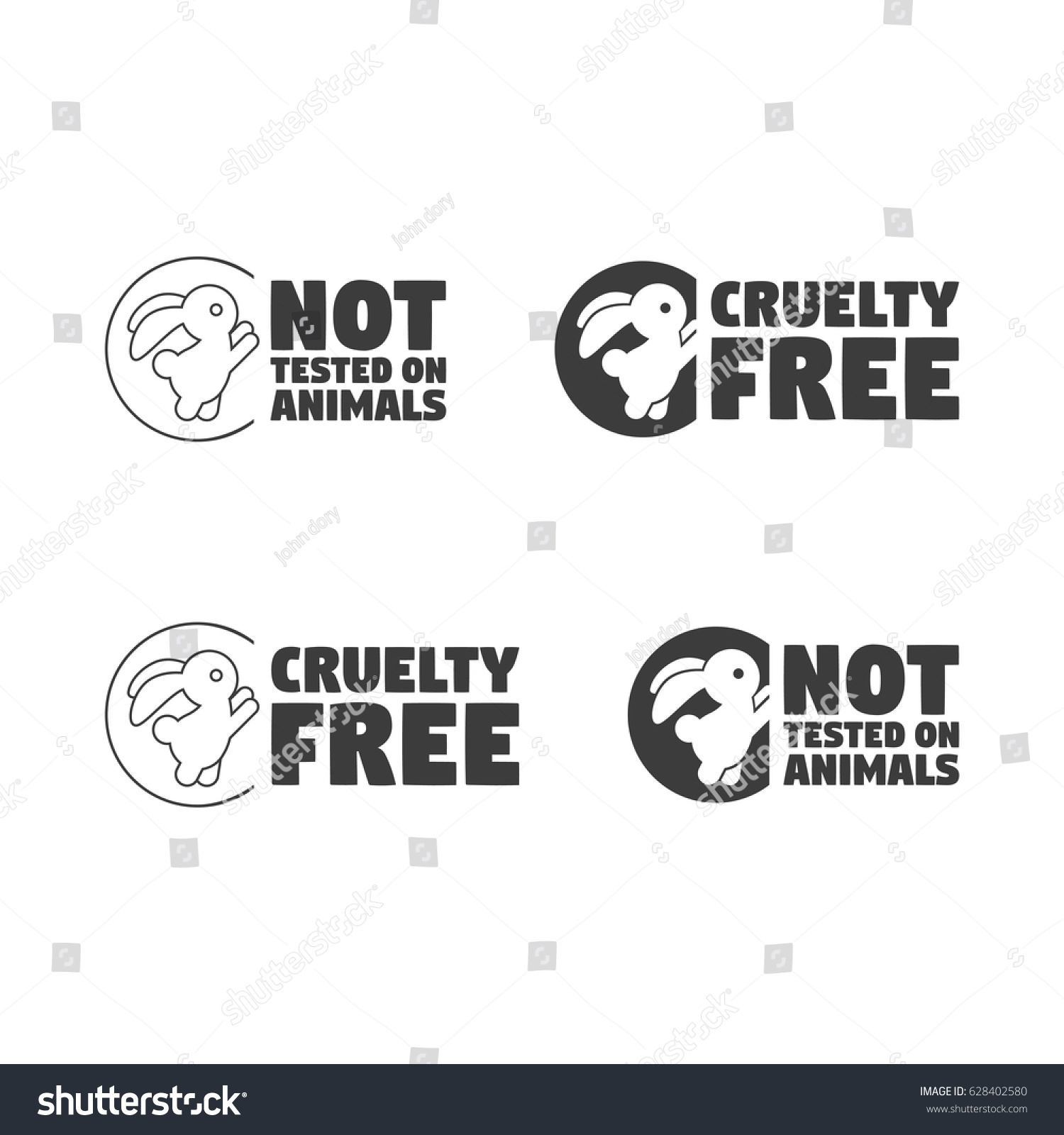 Animal cruelty free symbol can be stock vector 628402580 shutterstock animal cruelty free symbol can be used as sticker logo stamp icon biocorpaavc Gallery