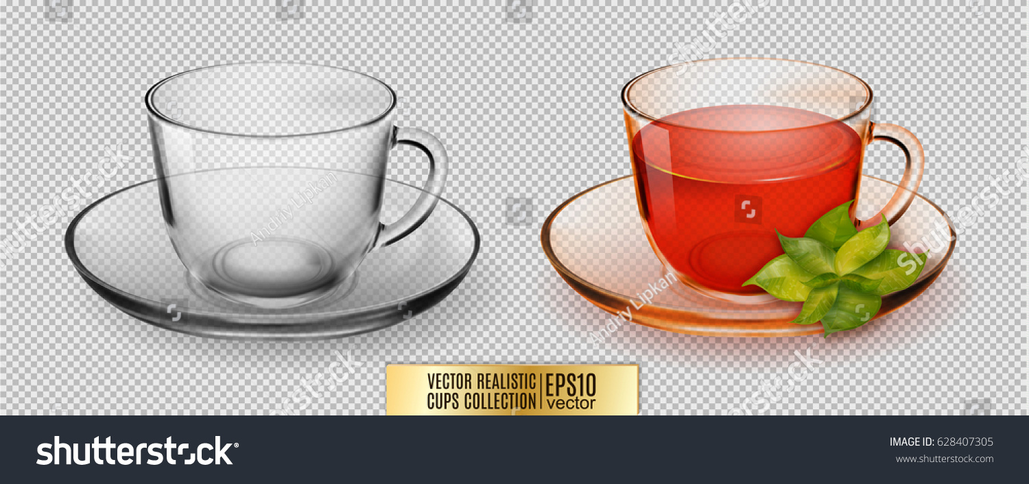Coffee cup transparent - Vector Glass Cup Transparent Glass Cup With Tea