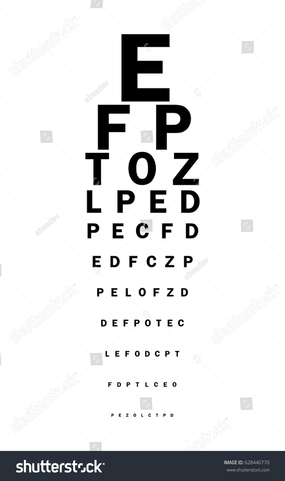 Eyes test chart latin letters stock vector 628440770 shutterstock eyes test chart with latin letters geenschuldenfo Image collections