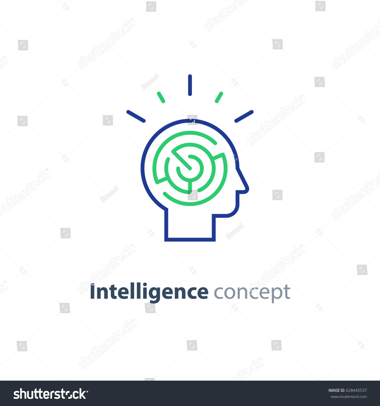 Logic games concept creative thinking head stock vector royalty logic games concept creative thinking head maze line icon mind labyrinth mental ccuart Images