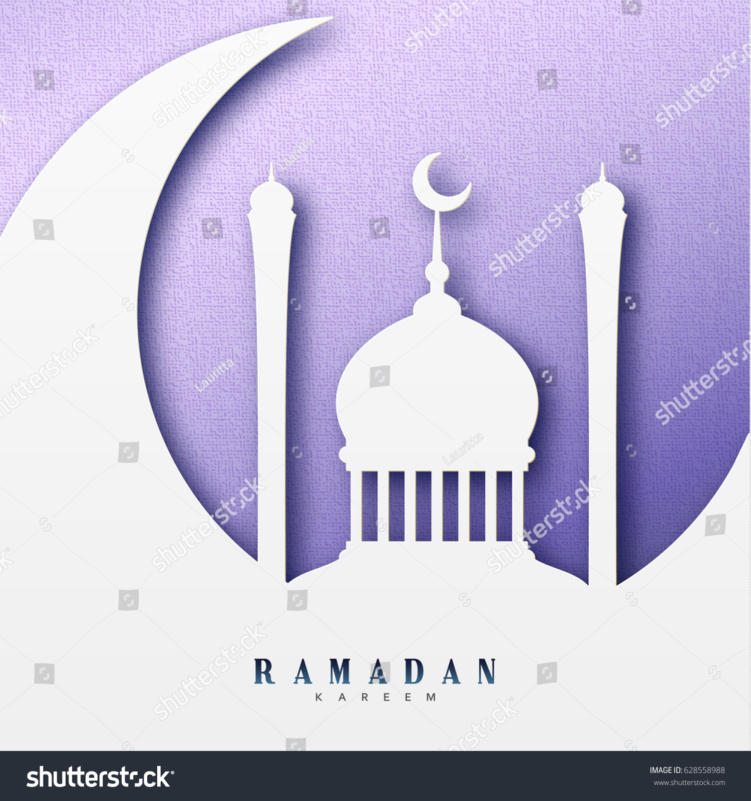 Ramadan greeting card arabic calligraphy ramadan stock vector ramadan greeting card with arabic calligraphy ramadan kareem islamic background half a month with mosques kristyandbryce Image collections