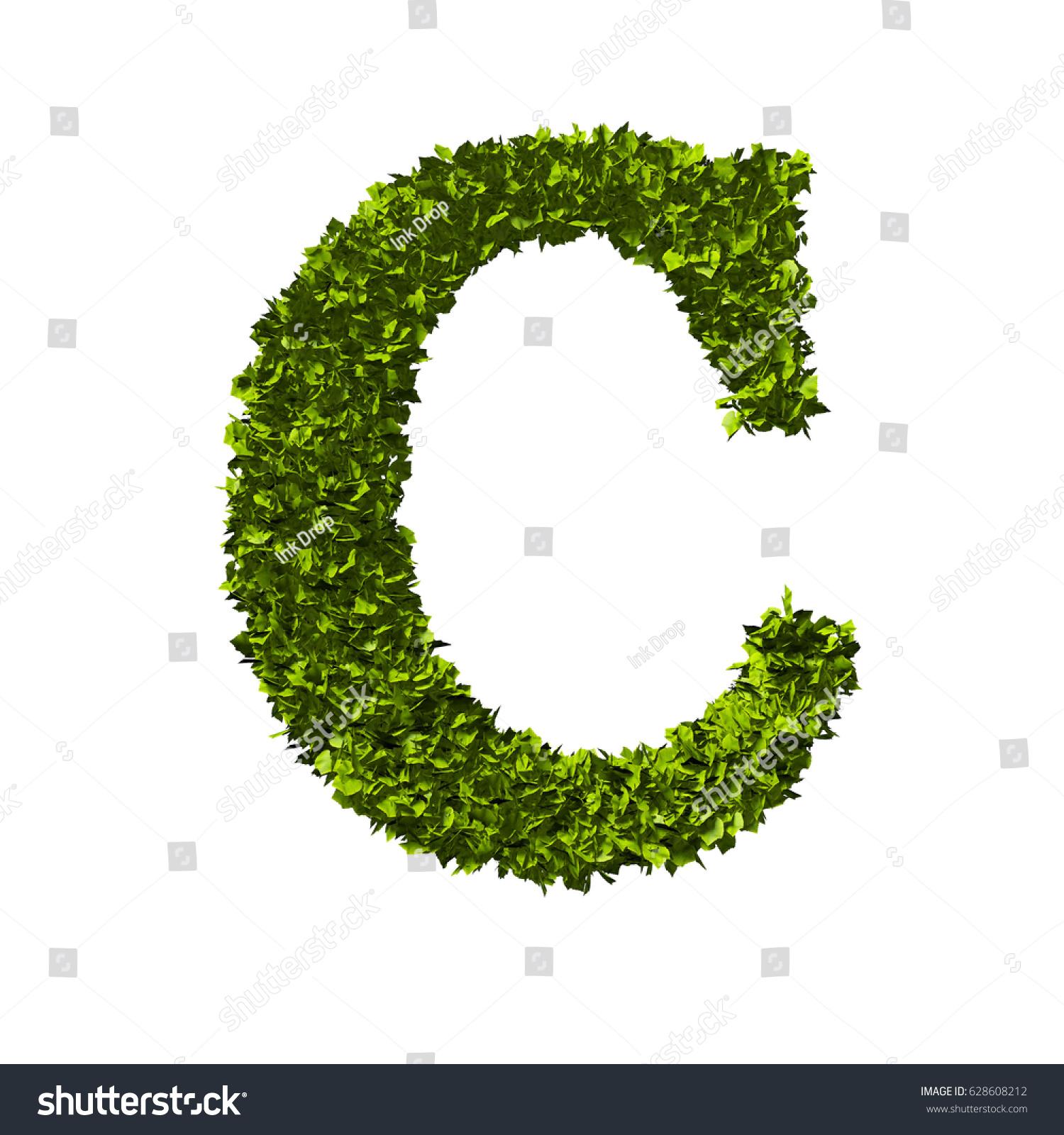 Letter c alphabet nature leaf font stock illustration 628608212 letter c alphabet nature leaf font 3d rendering biocorpaavc Gallery