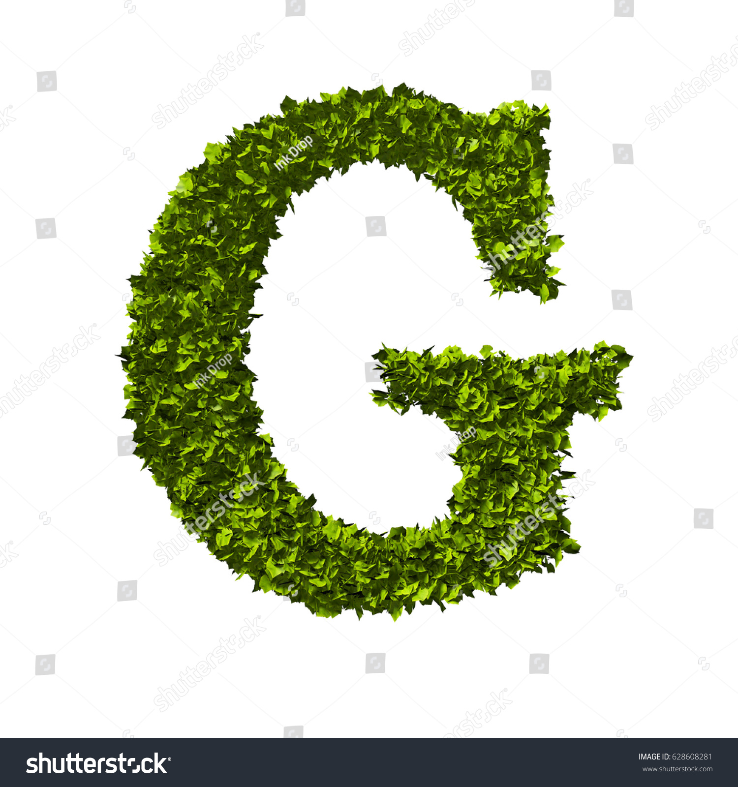 Letter g alphabet nature leaf font stock illustration 628608281 letter g alphabet nature leaf font 3d rendering biocorpaavc Gallery
