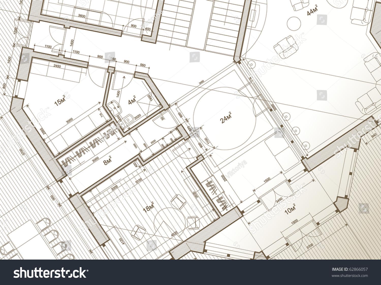 Architect house plan vector blueprint stock vector 62866057 architect house plan vector blueprint malvernweather Gallery