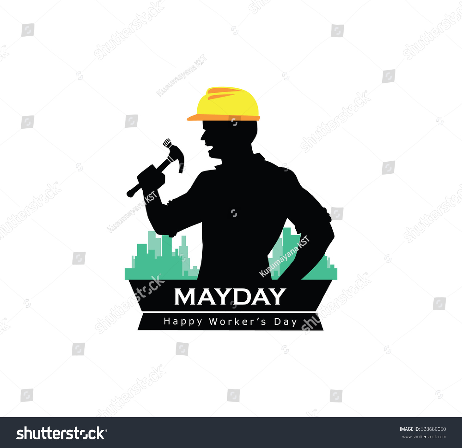 Mayday labor day happy worker day stock vector 628680050 shutterstock mayday labor day happy worker day illustration grapich design icon buycottarizona Choice Image