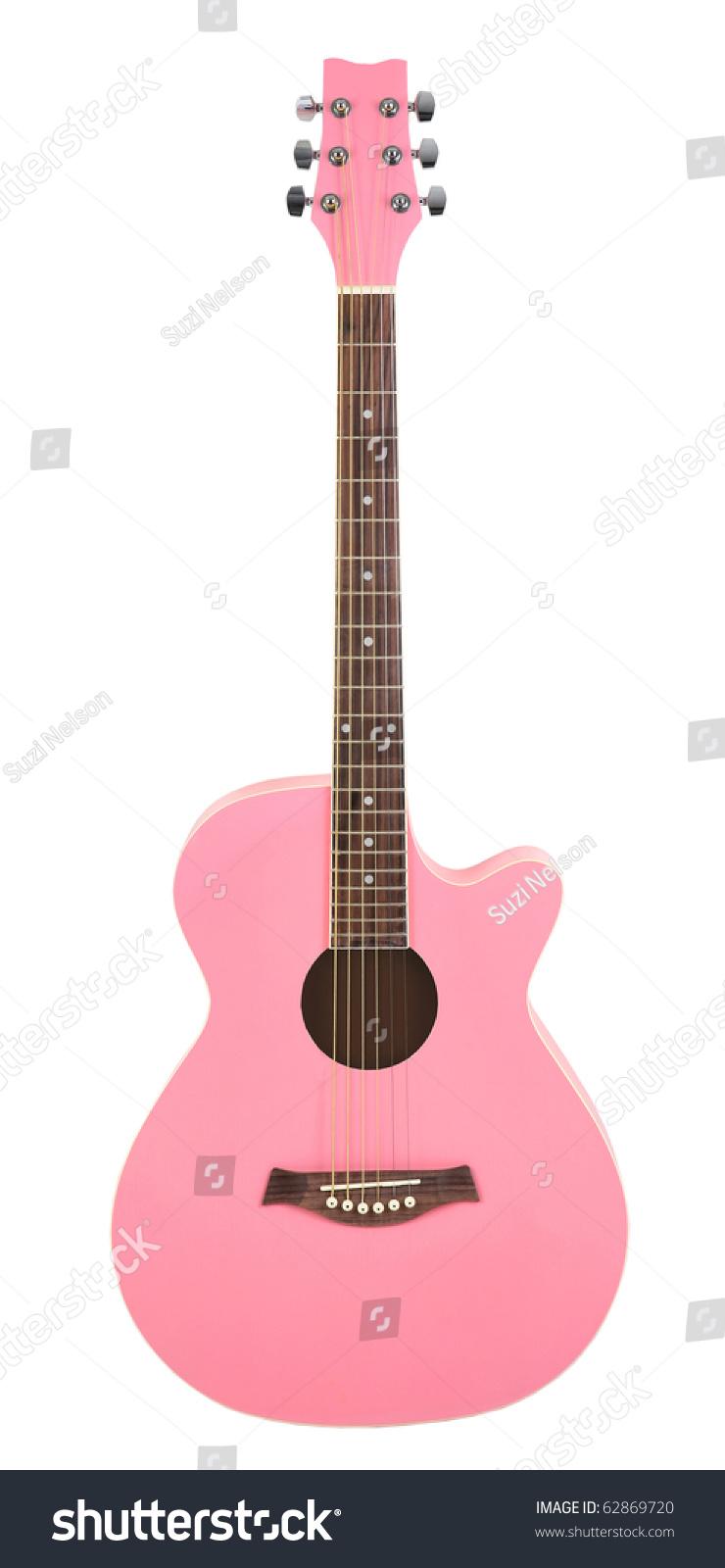 Pastel Pink Acoustic Cutaway Girlie Guitar Stock Photo Edit Now 62869720