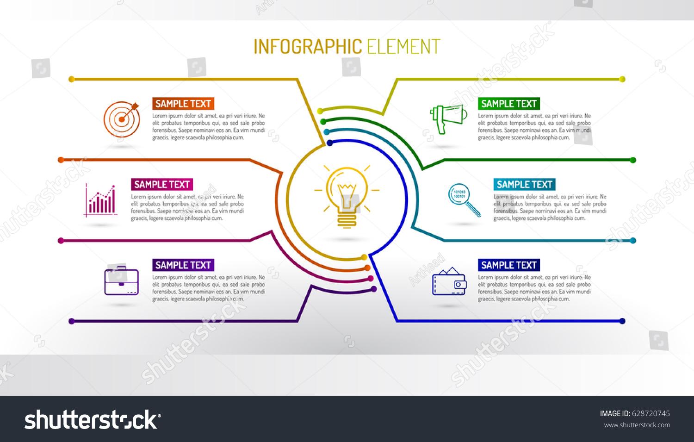 Vector Infographic Design Template Made Lines Vector de ...