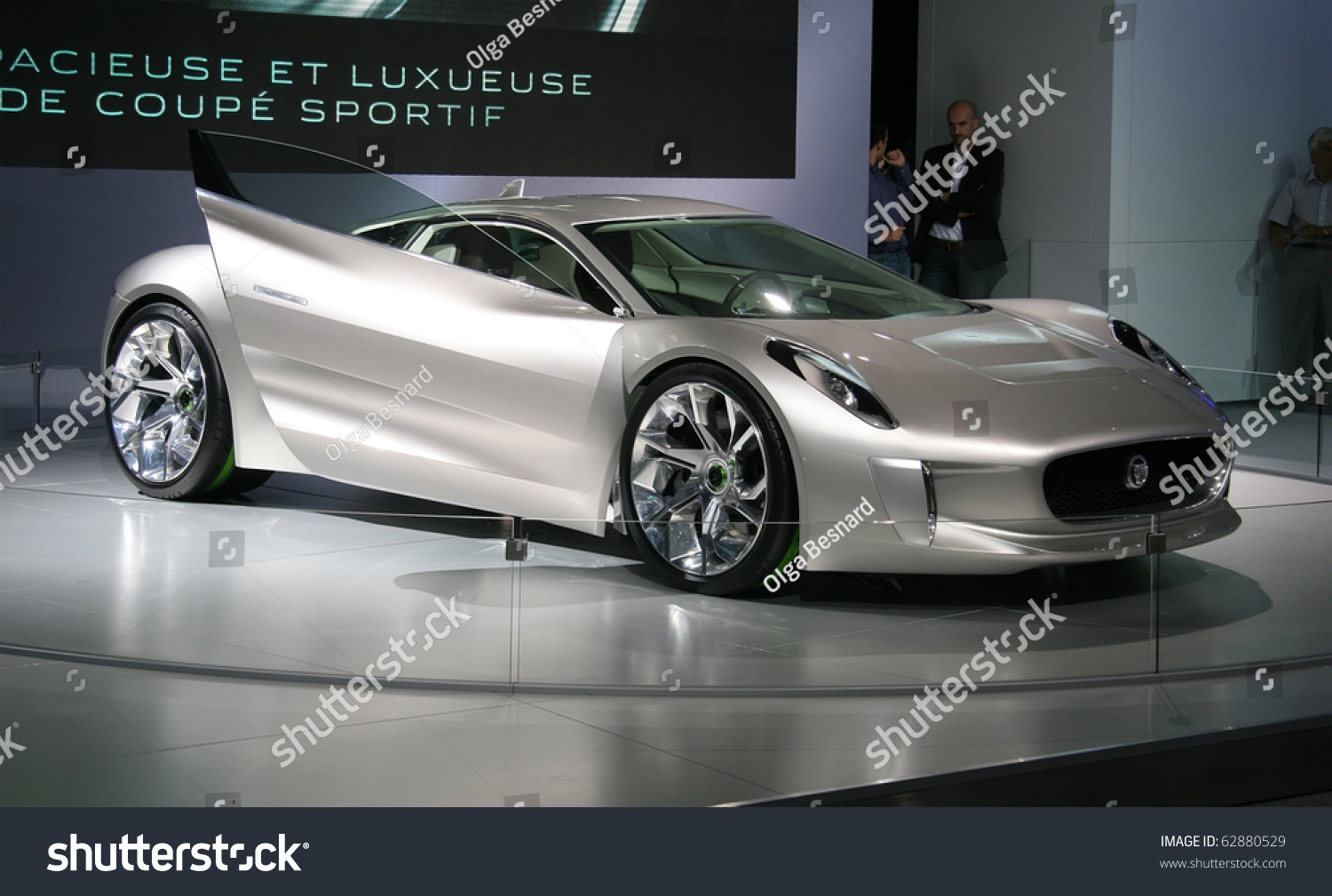 paris october 11 jaguar c x75 concept an electric hybrid roadster at the paris motor show. Black Bedroom Furniture Sets. Home Design Ideas