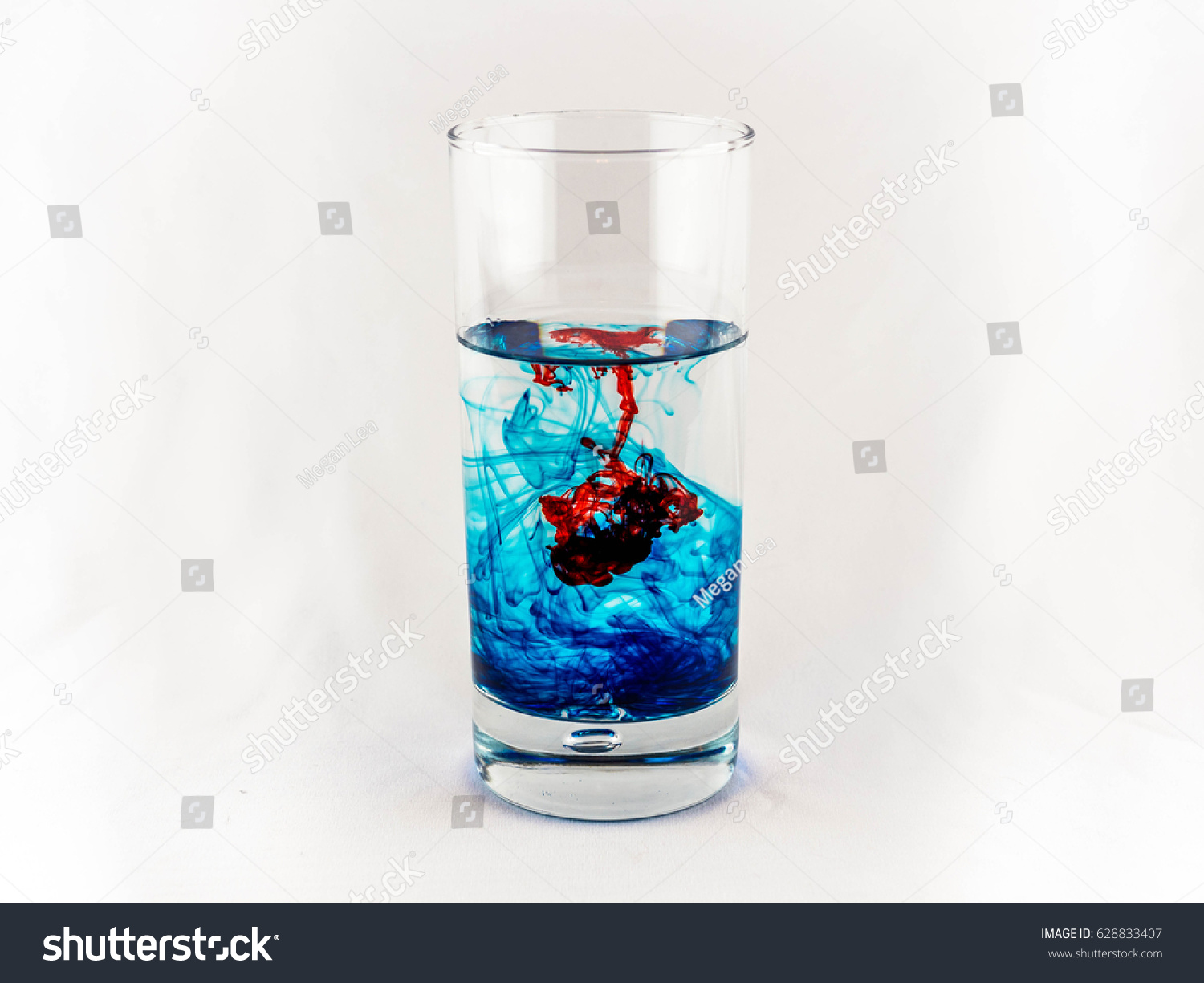 Red Blue Food Coloring Tall Glass Stock Photo (Safe to Use ...