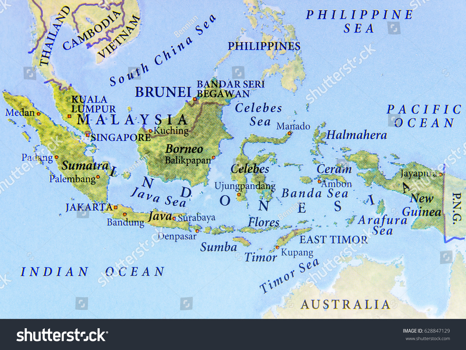 Geographic map malaysia brunei indonesia important stock photo edit geographic map of malaysia brunei and indonesia with important cities gumiabroncs Choice Image