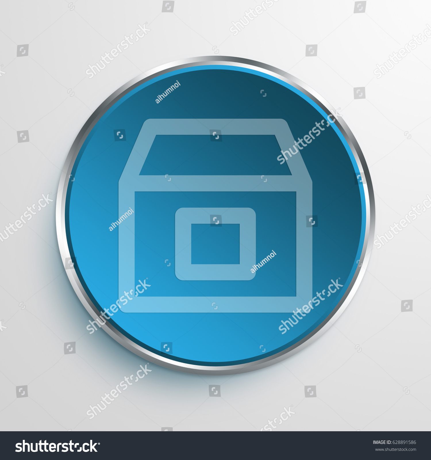 Blue Sign Delivery Box Symbol Icon Stock Illustration 628891586
