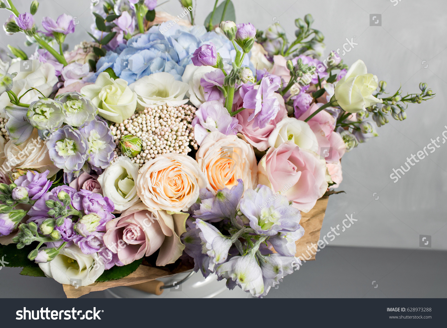 Still Life Bouquet Flowers Florist Put Stock Photo (Download Now ...