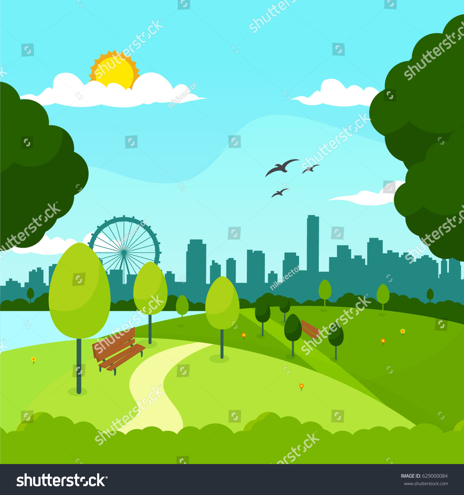 city park vector - photo #9