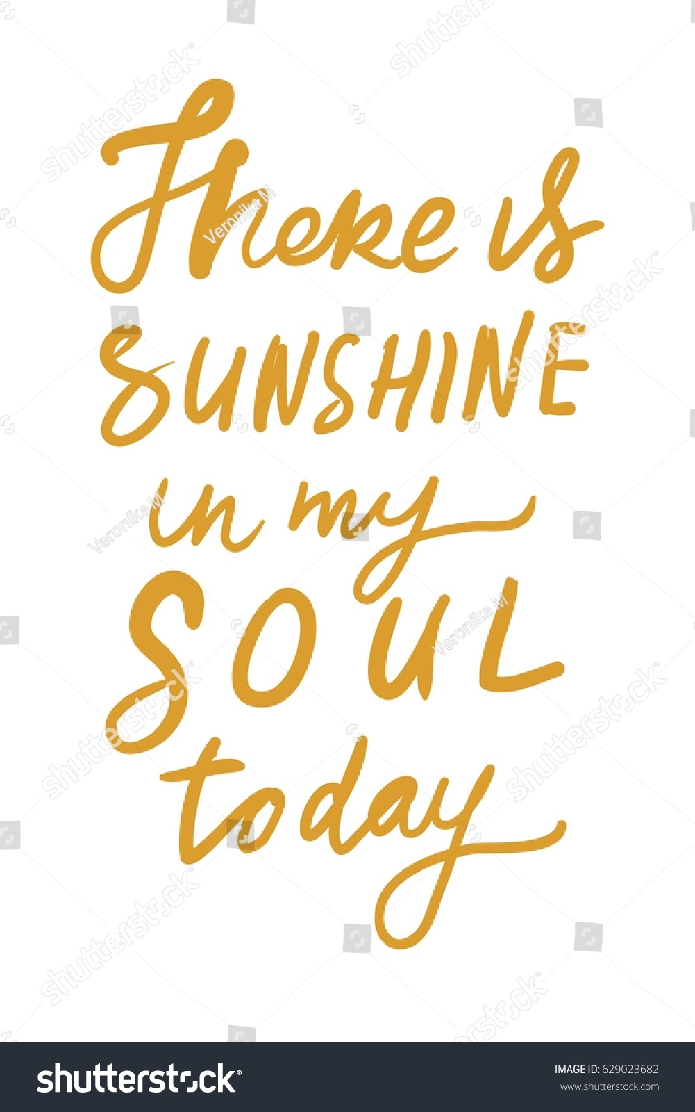 Quote For Today About Happiness There Sunshine My Soul Todayquotes About Stock Vector 629023682