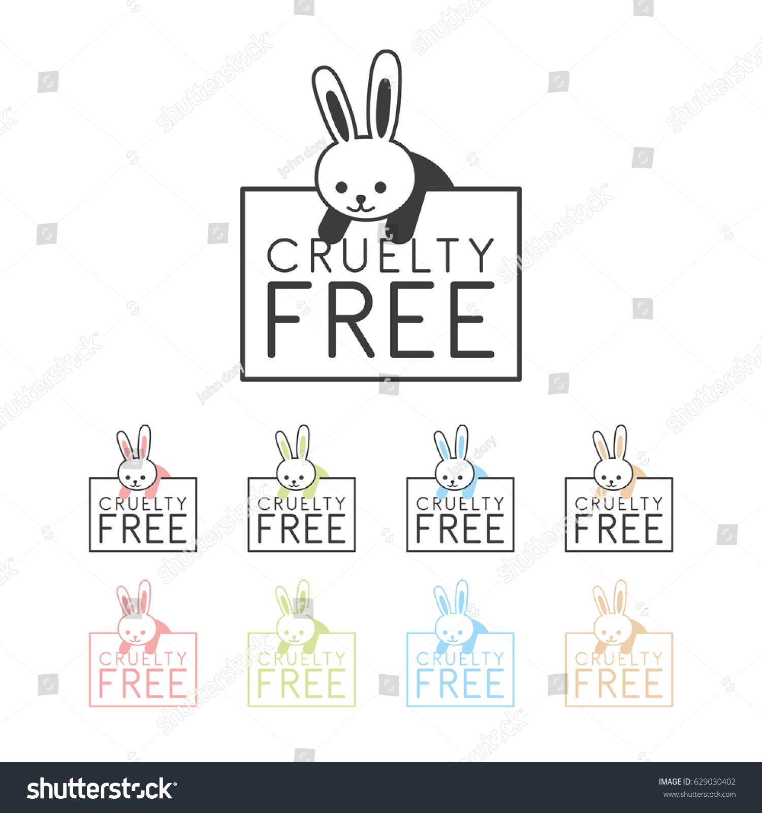 Animal cruelty free symbol can be stock vector 629030402 shutterstock animal cruelty free symbol can be used as sticker logo stamp icon biocorpaavc Gallery