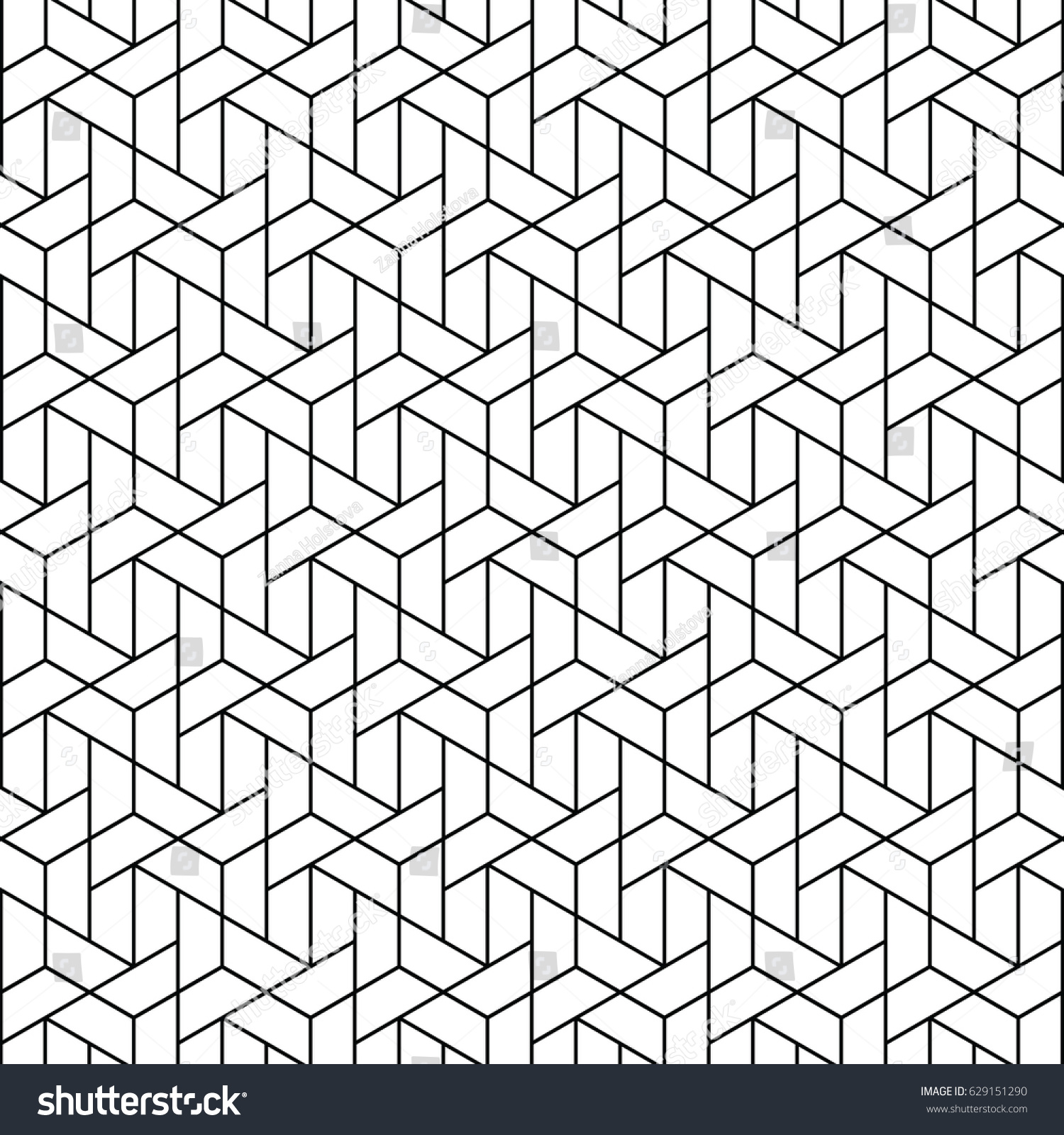triangular vector grid modern stylish trellis stock vector