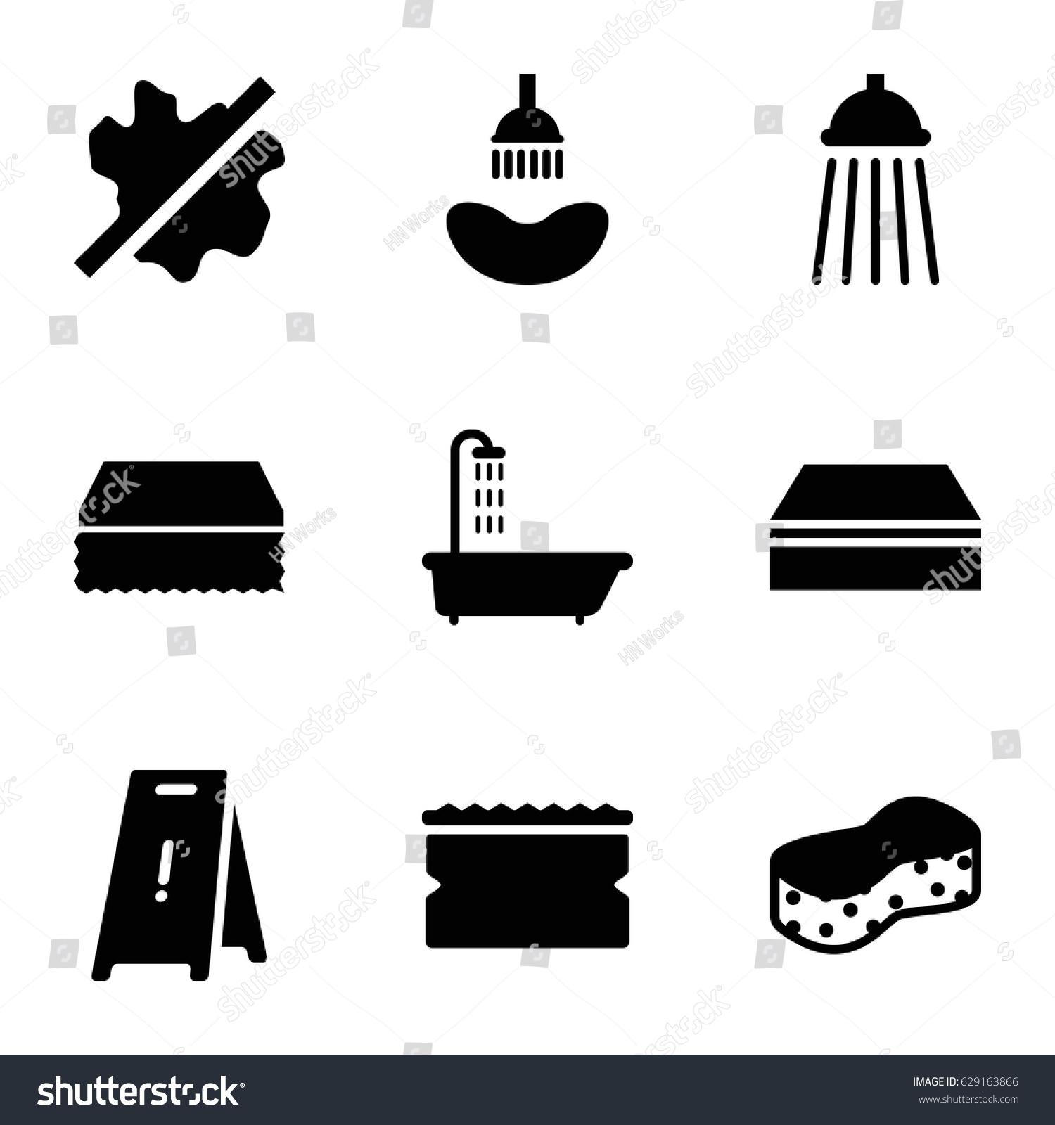Wet icons set set 9 wet stock vector 629163866 shutterstock wet icons set set of 9 wet filled icons such as shower sponge biocorpaavc
