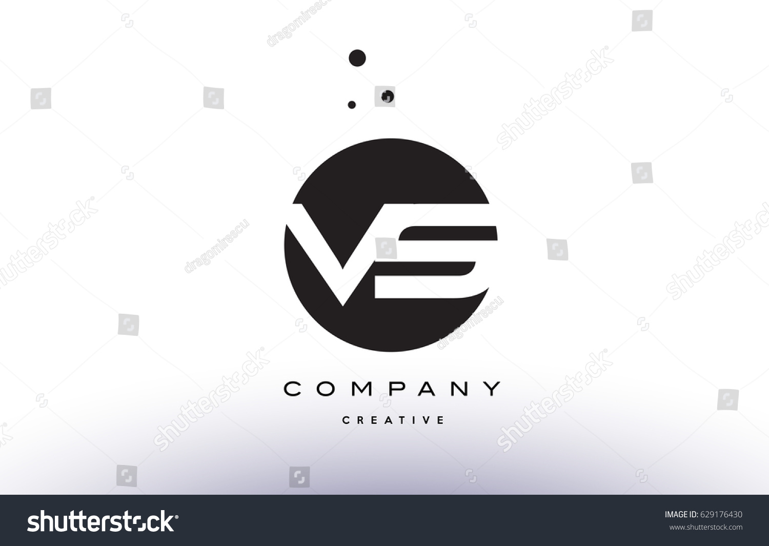 Vs v s alphabet company letter stock vector 629176430 shutterstock vs v s alphabet company letter logo design vector icon template simple black white circle dot dots buycottarizona Image collections