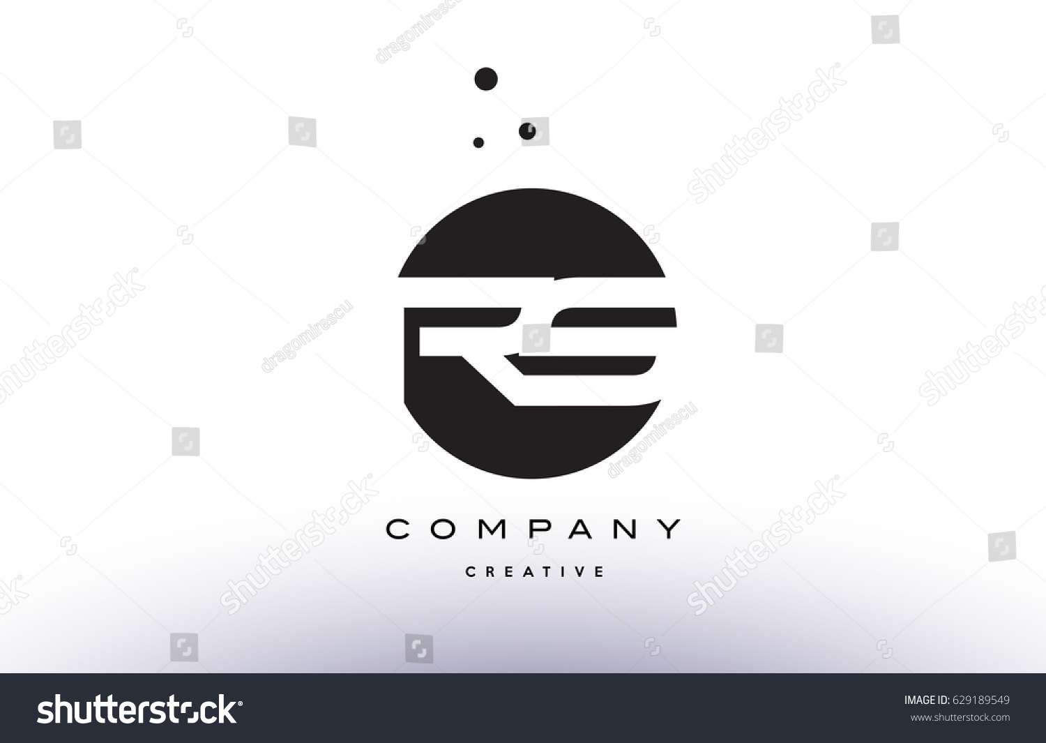 Rs r s alphabet company letter stock vector 629189549 shutterstock rs r s alphabet company letter logo design vector icon template simple black white circle dot dots buycottarizona Image collections