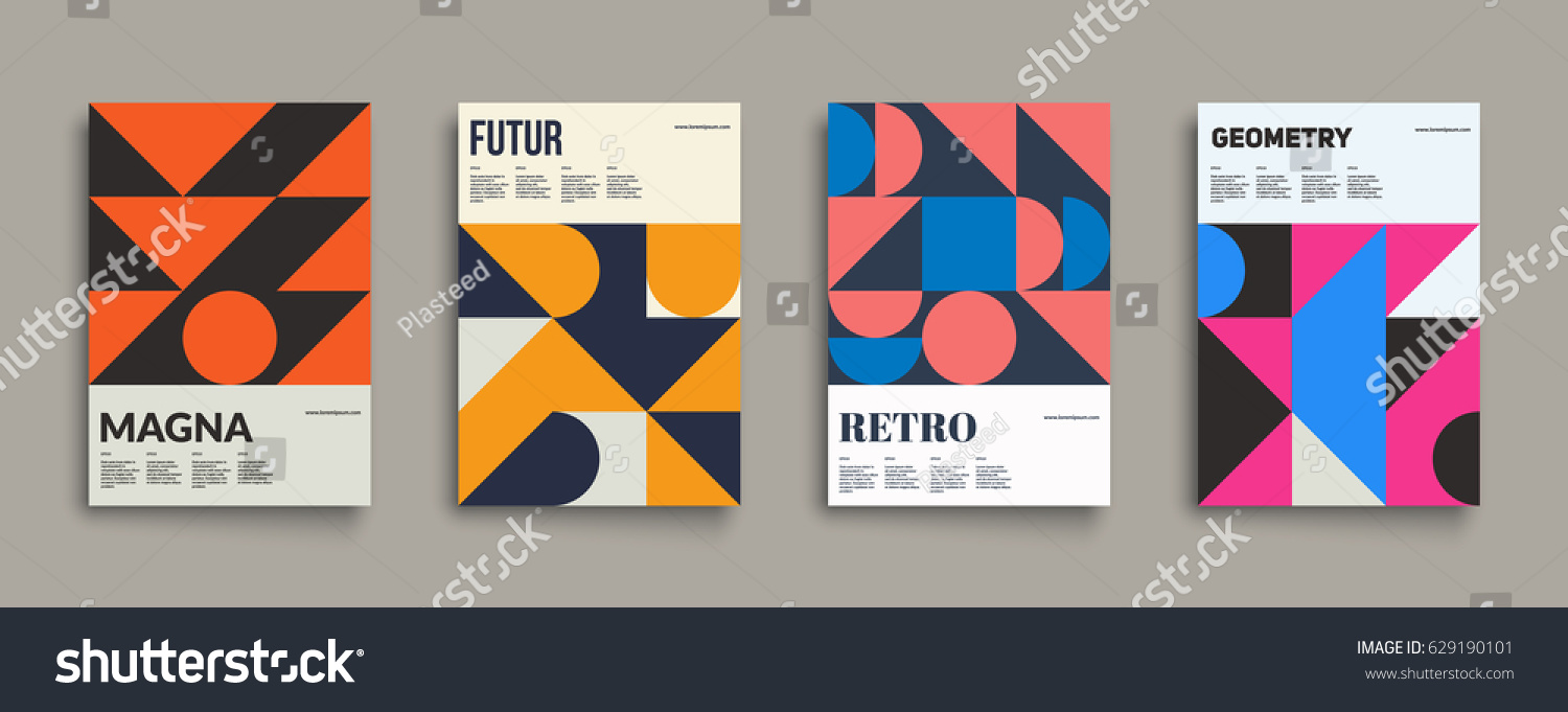 Retro Graphic Design Covers Cool Vintage Stock Vector 629190101 ...
