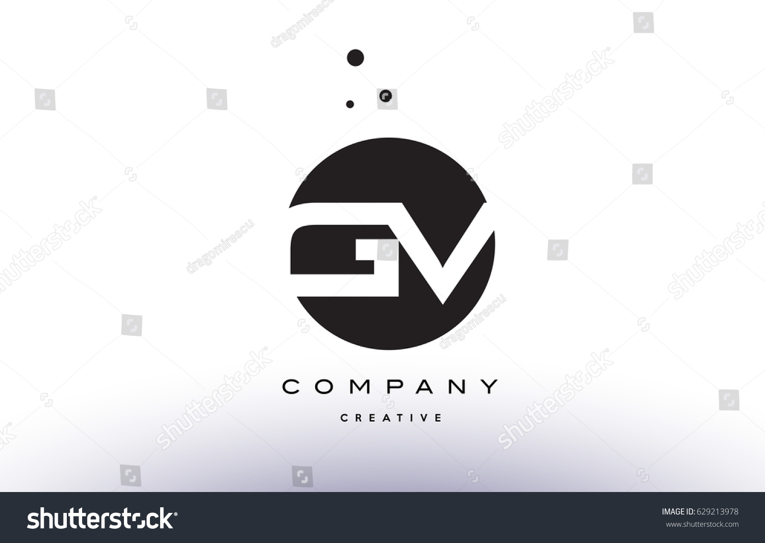 Gv g v alphabet company letter stock vector 629213978 shutterstock gv g v alphabet company letter logo design vector icon template simple black white circle dot dots buycottarizona Image collections