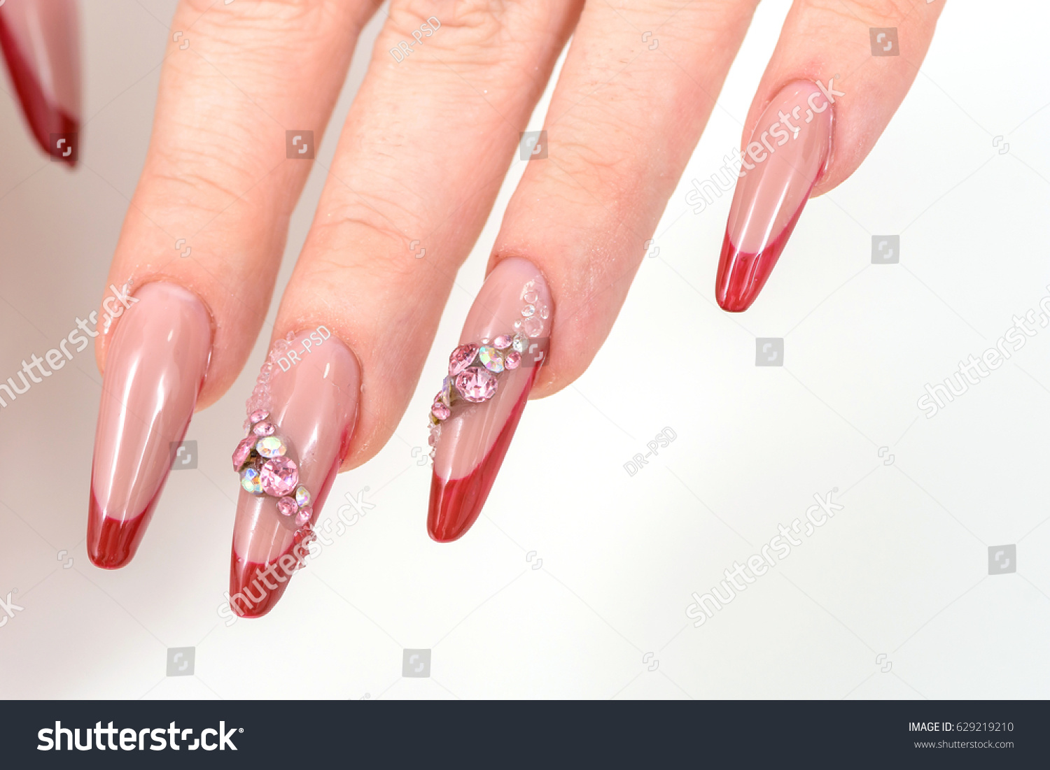Construction Gel Nails Stock Photo (Royalty Free) 629219210 ...
