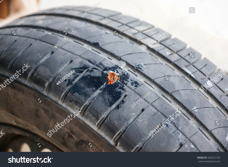 Repairing Tubeless Tire Puncture Using Sealant Stock Photo (Edit Now ...