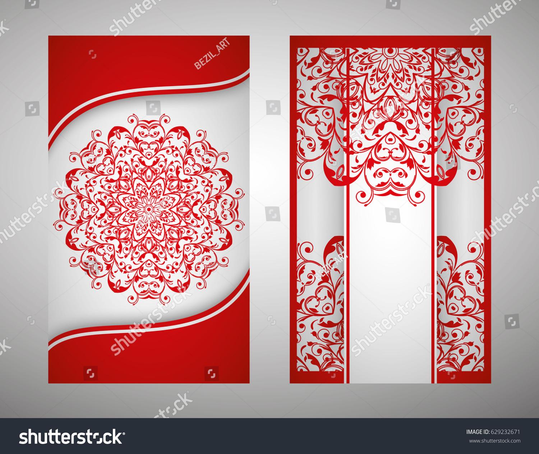 flyer, cover, pattern mandala. Oriental motif. Hand painted texture ...