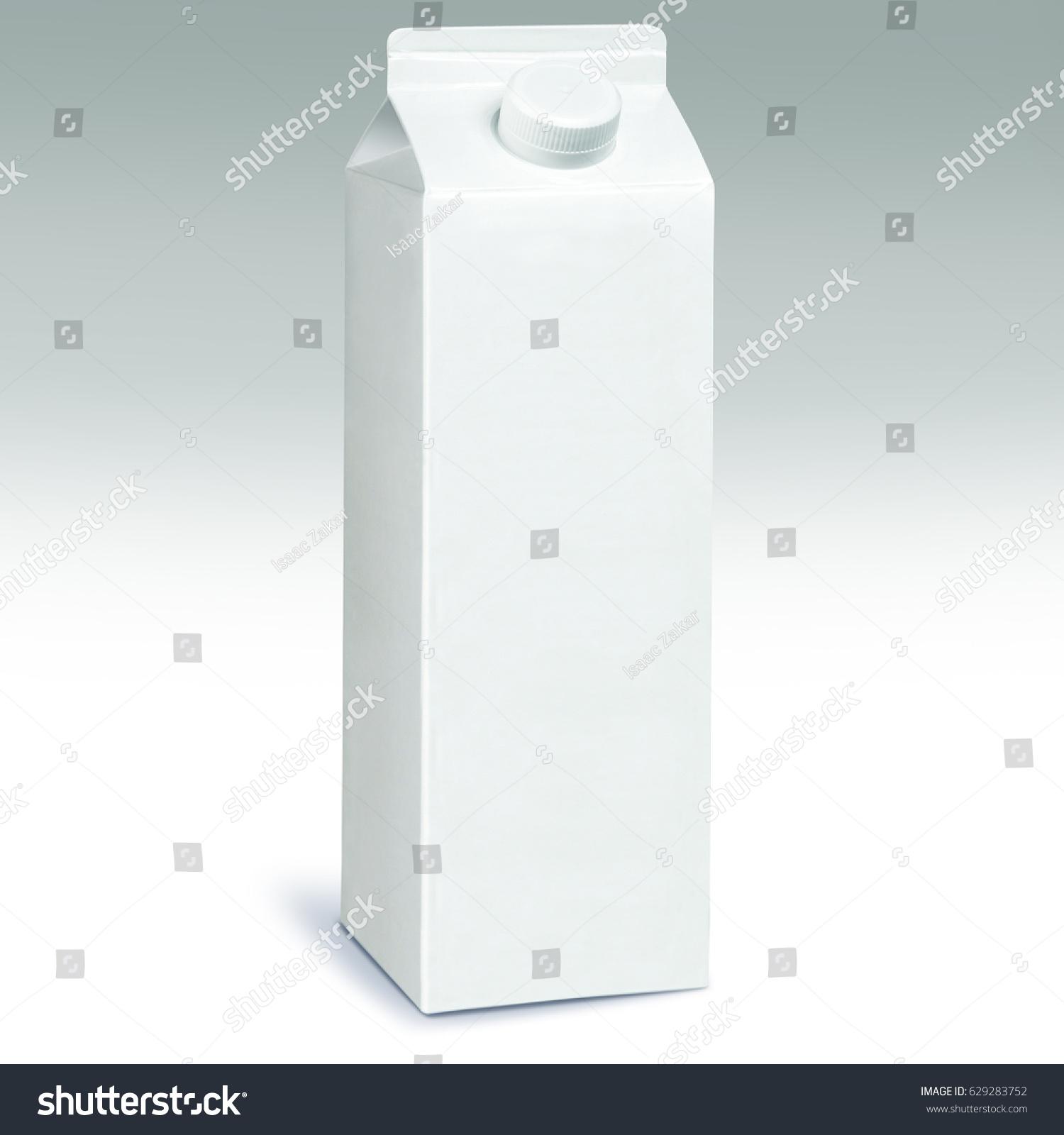 1 Liter Milk Carton Pack Template Mockup