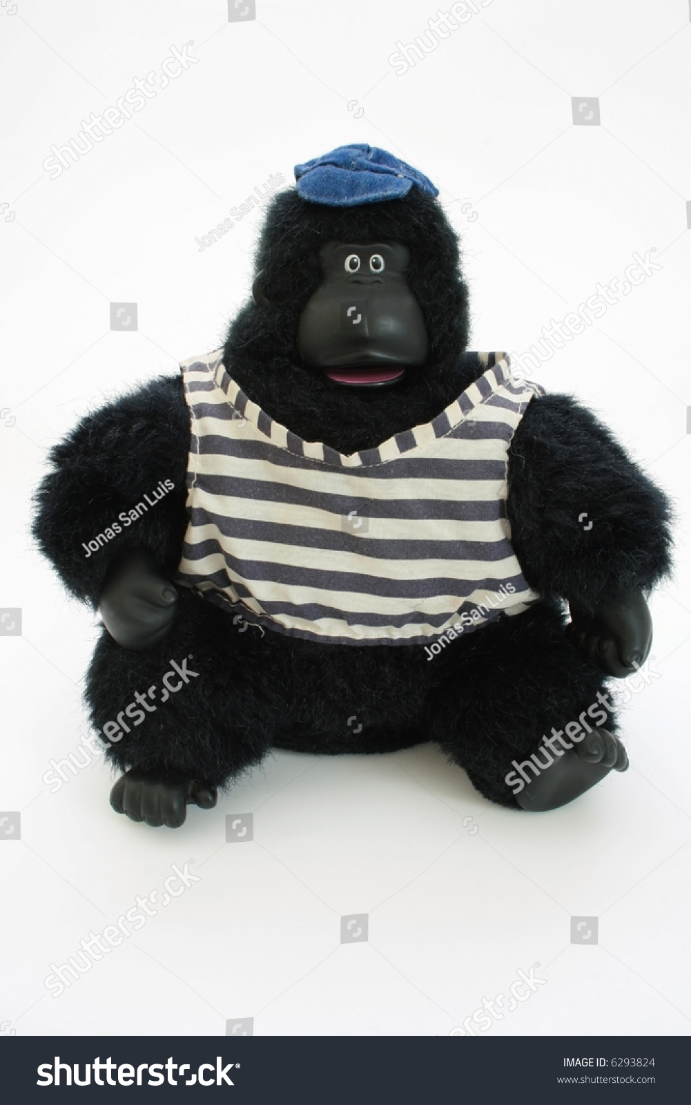 Dressed Stuffed Toy Gorilla Wearing Shirt And Hat Stock ...