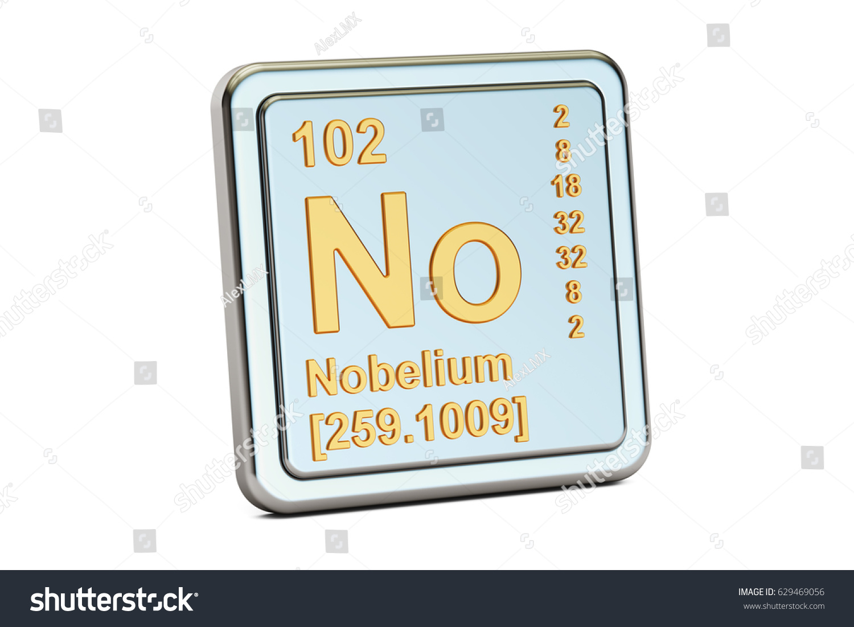 Nobelium no chemical element sign 3d stock illustration 629469056 nobelium no chemical element sign 3d renderingisolated on white background buycottarizona