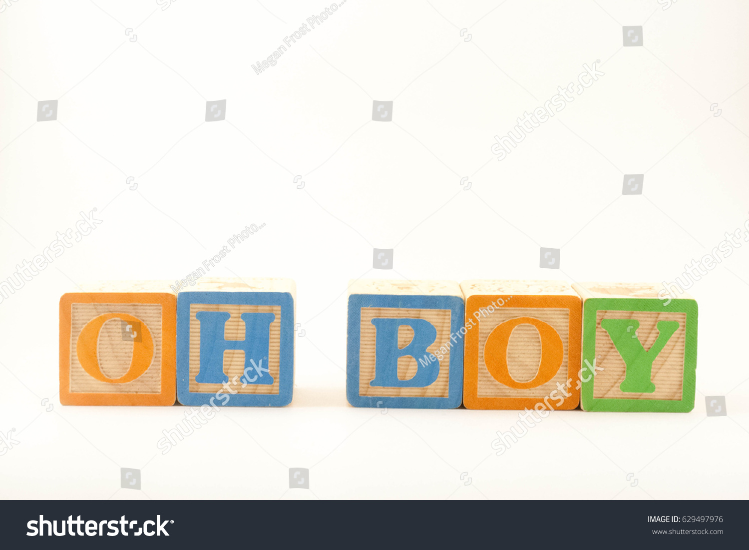 Words Oh Boy Spelled Out Wooden Stock Photo Edit Now 629497976