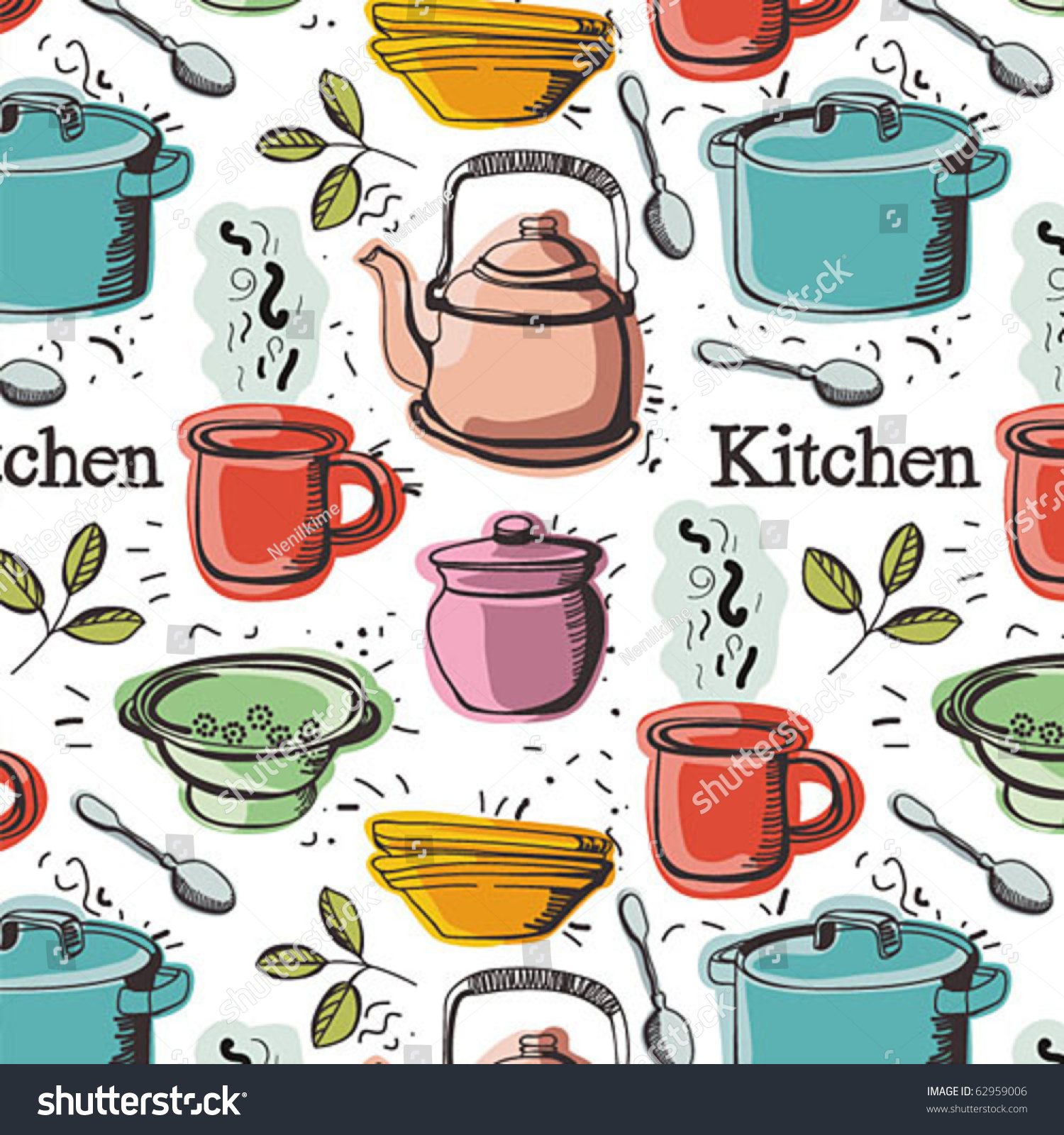 kitchen background stock vector illustration 62959006