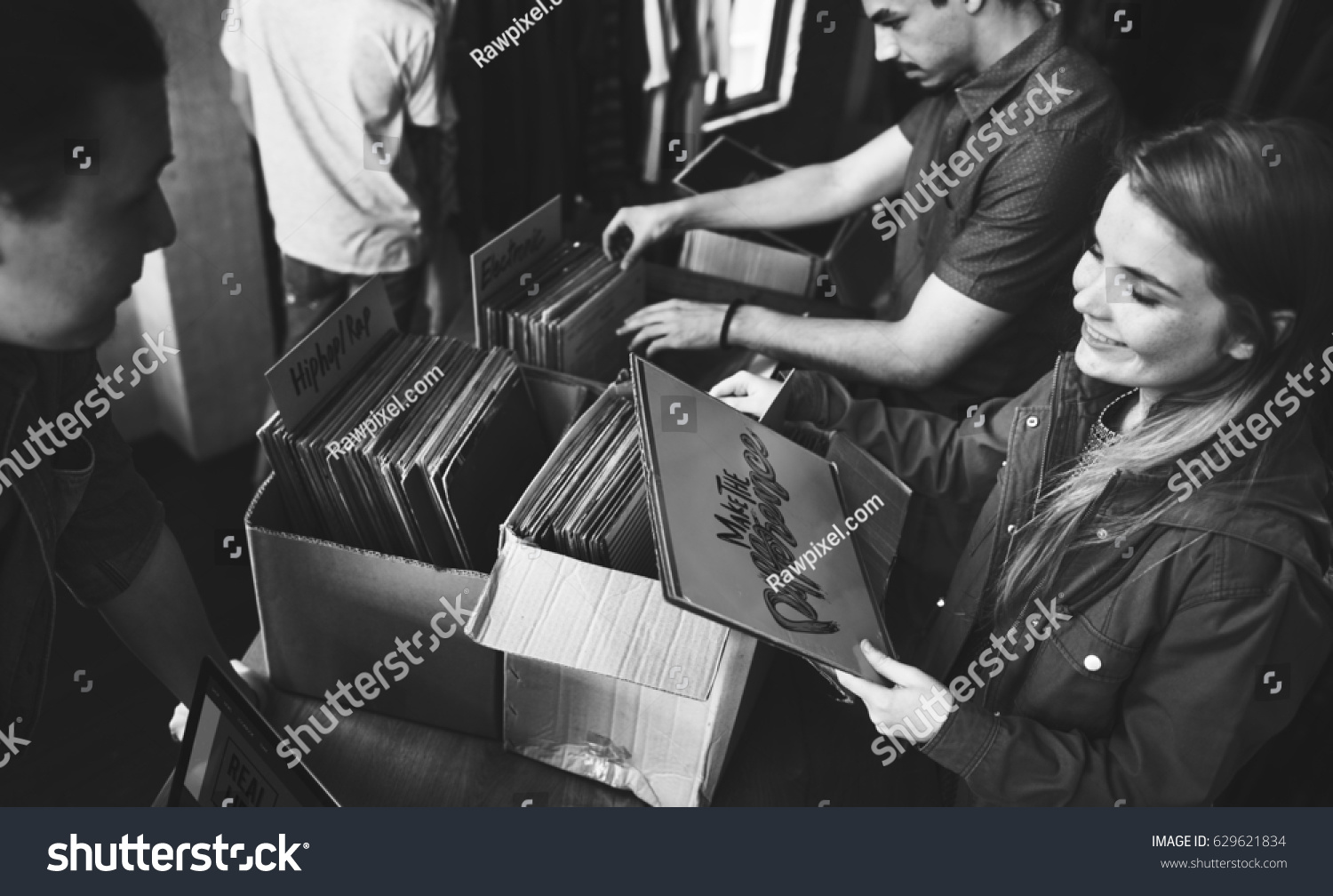 Vinyl Record Store Music Shopping Old Stock Photo & Image (Royalty ...