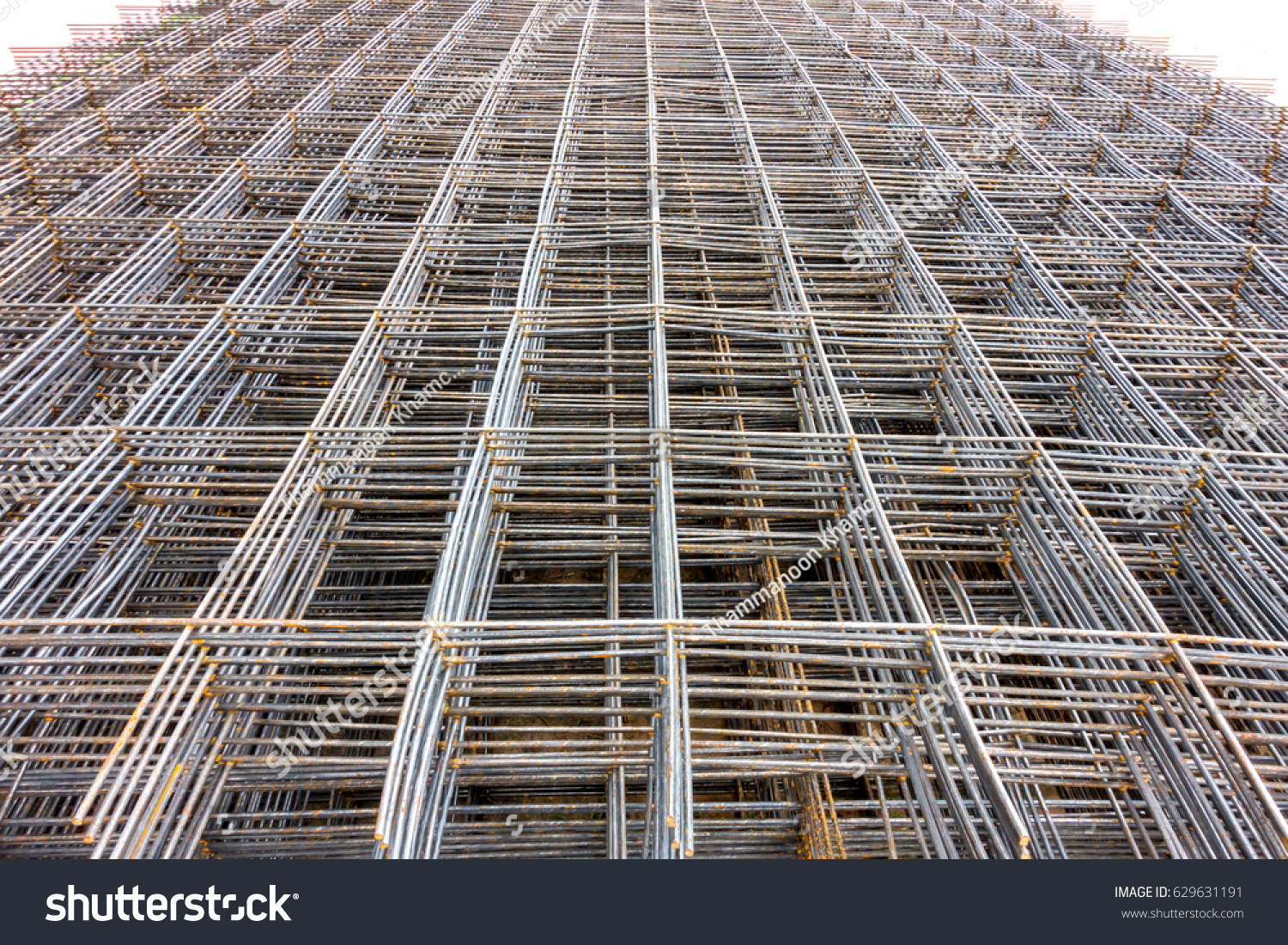 Steel Bars Used Public Road Construction Wire Stock Photo (100 ...