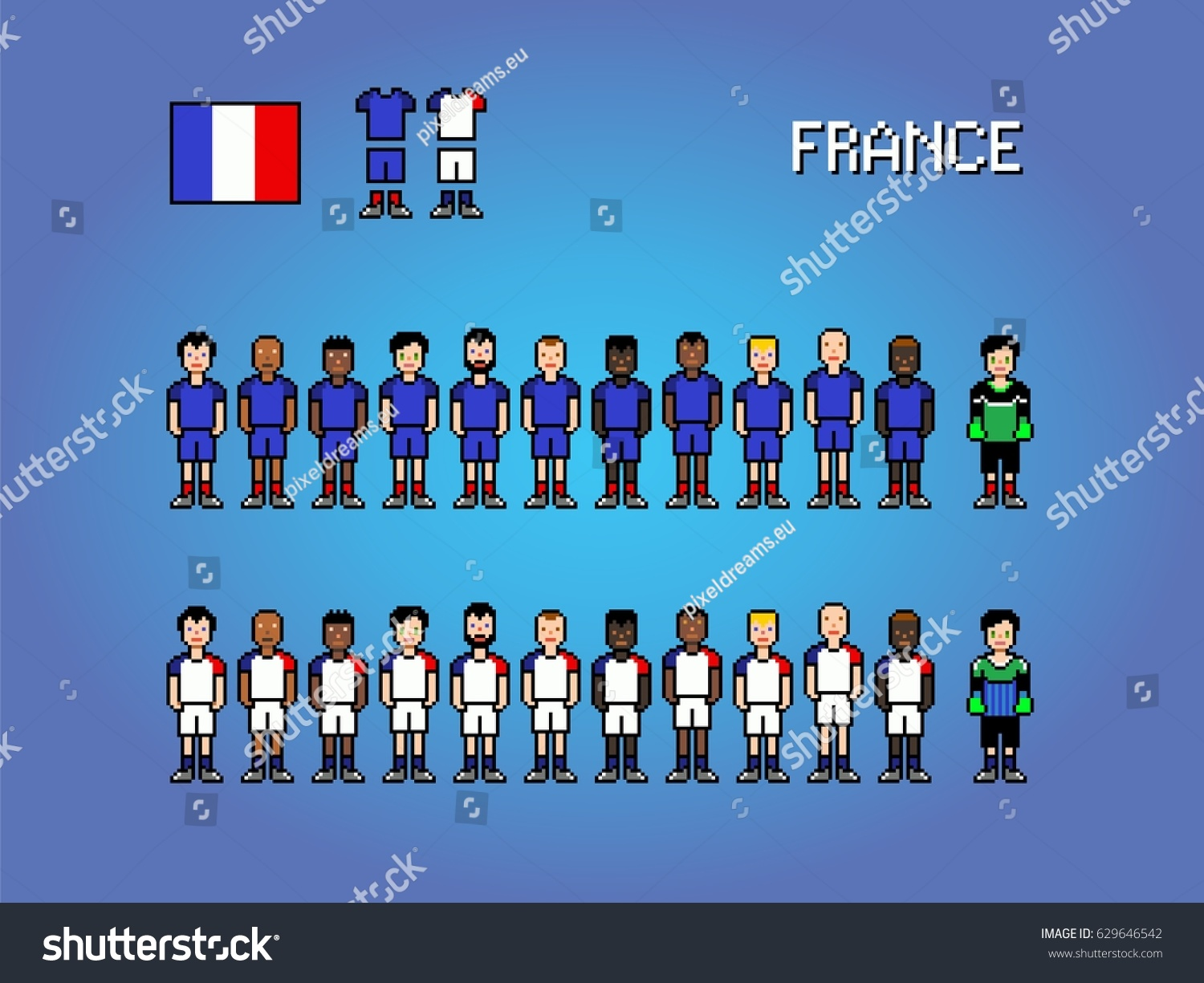Image Vectorielle De Stock De France National Football Team