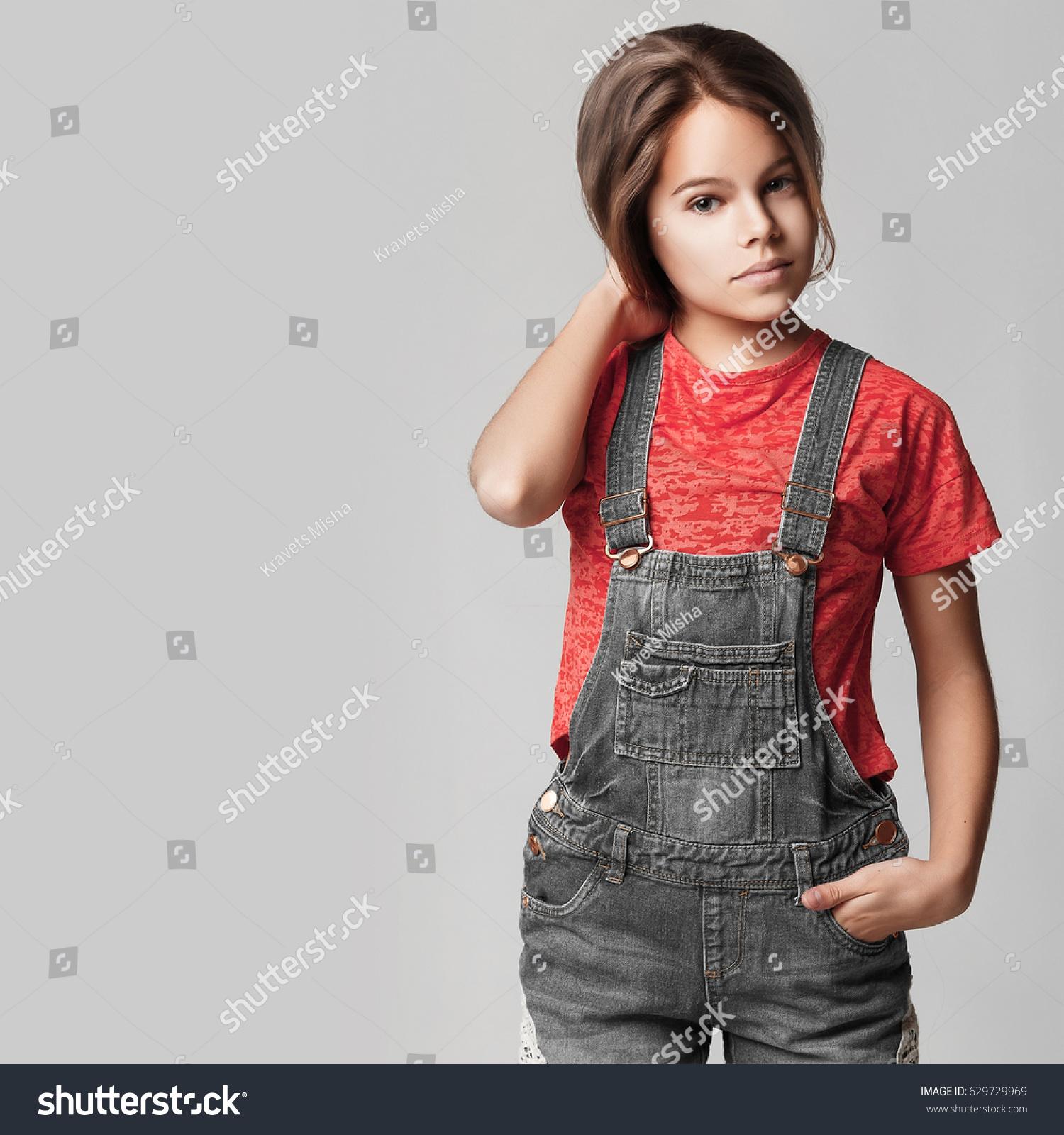 Cute teen girl jeans congratulate, brilliant