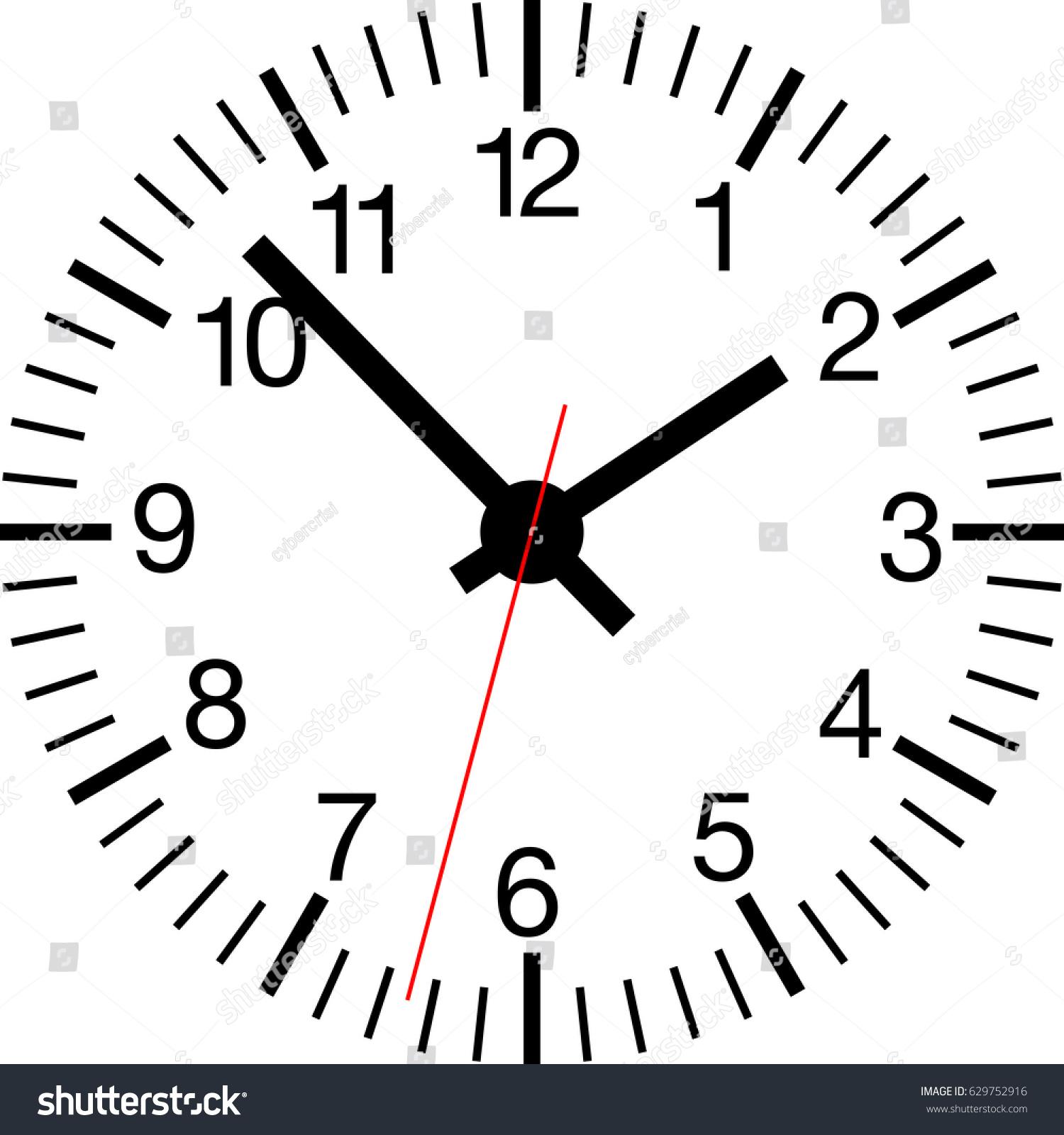 Standard analog clock face wall clock stock vector 629752916 standard analog clock face of a wall clock amipublicfo Gallery